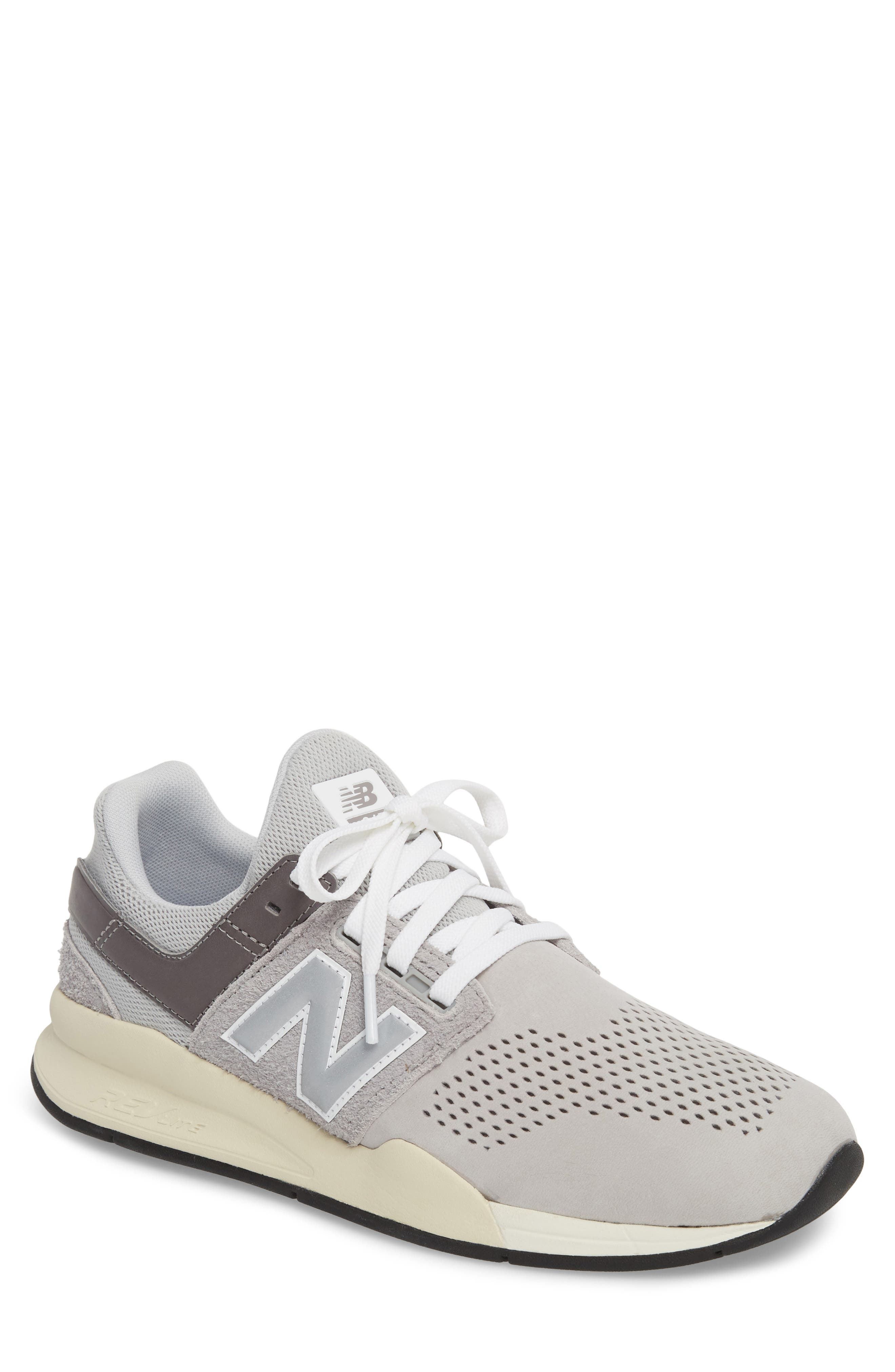 247 v2 Sneaker,                             Main thumbnail 1, color,                             Rain Cloud Leather