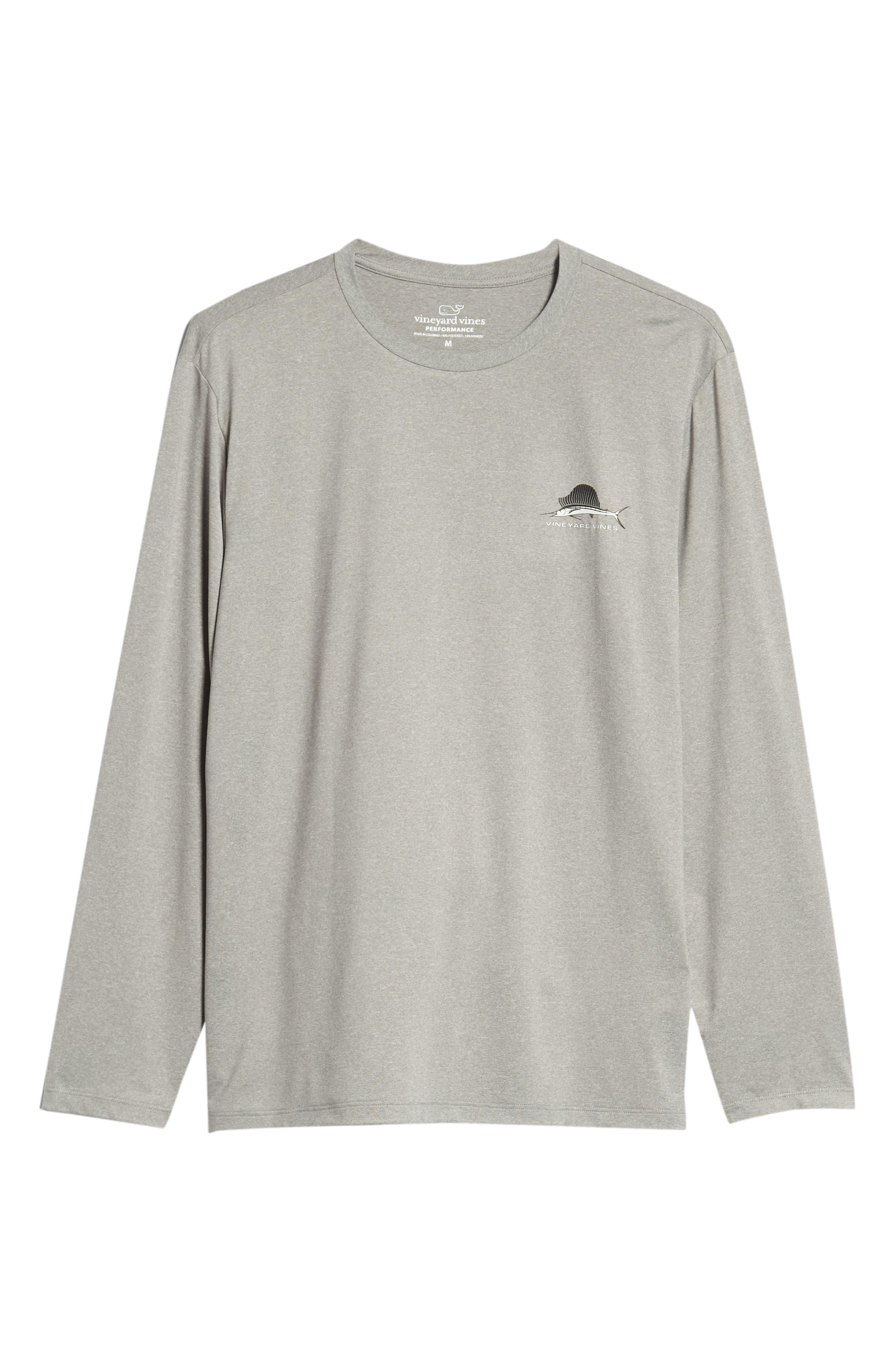 Sailfish Logo Performance T-Shirt,                             Alternate thumbnail 6, color,                             Grey Heather