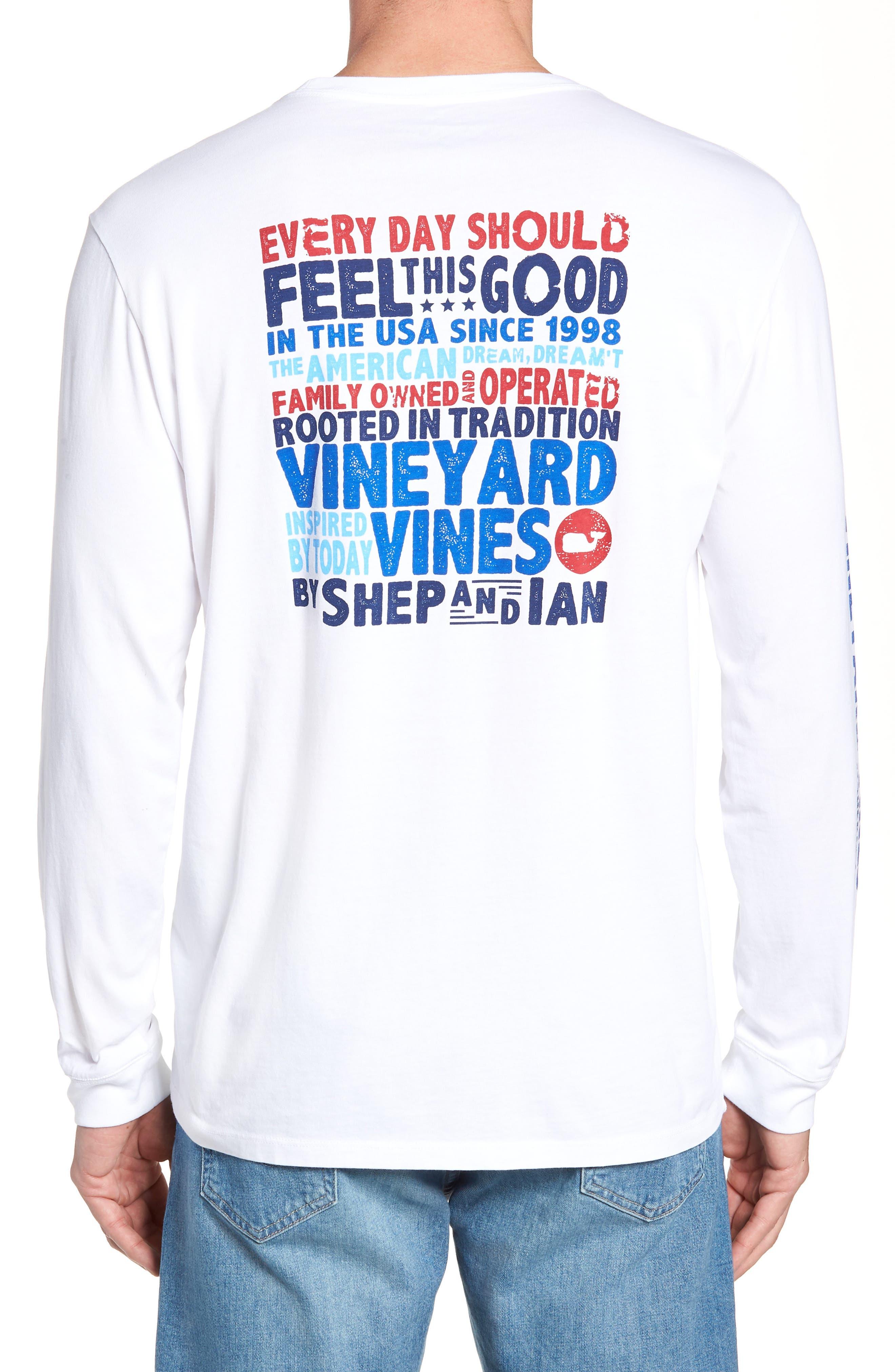 RW&B Story Graphic Long Sleeve Pocket T-Shirt,                             Alternate thumbnail 2, color,                             White Cap