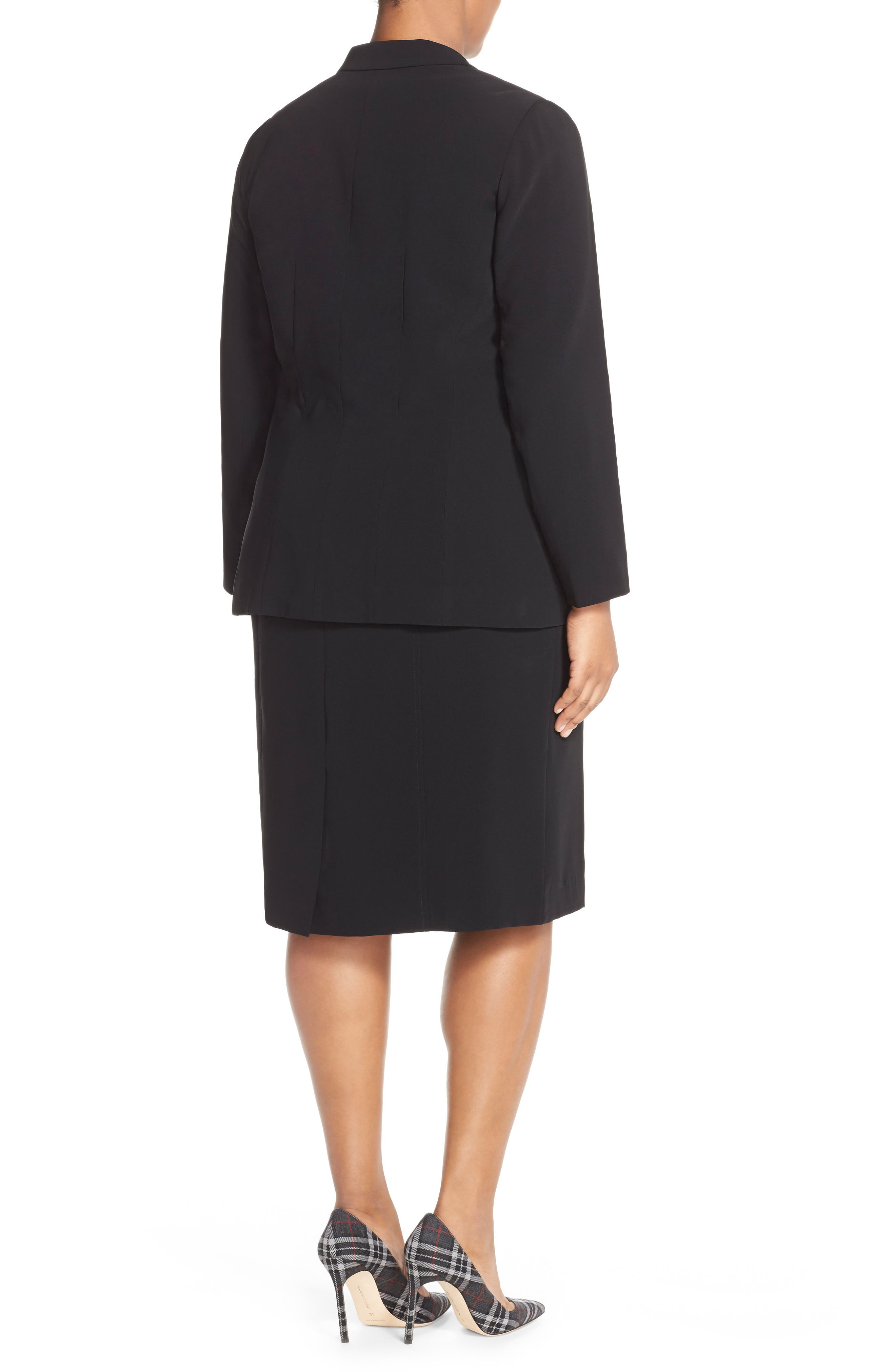 Sleeveless Suiting Sheath Dress,                             Alternate thumbnail 4, color,                             Black
