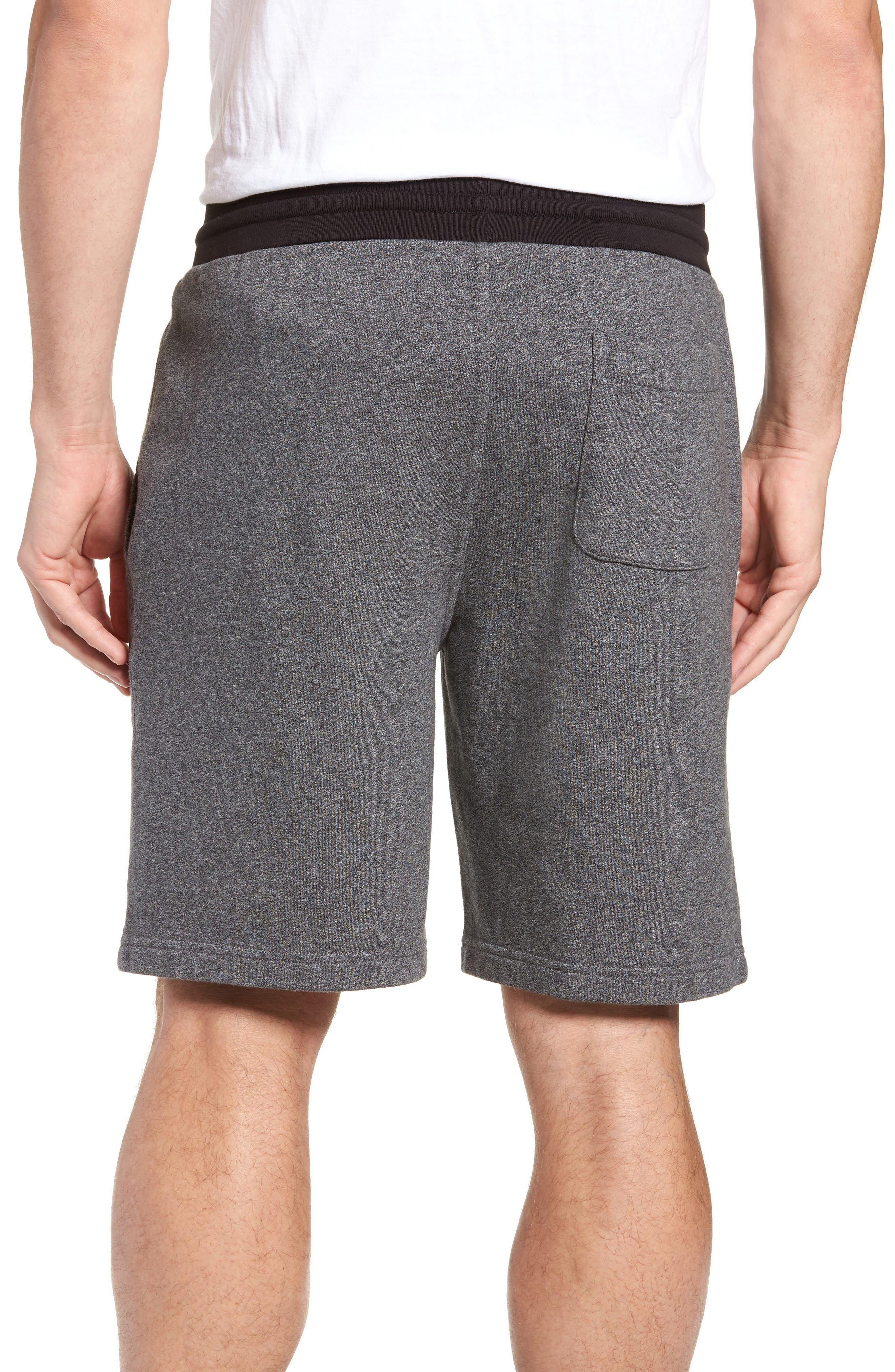French Terry Shorts,                             Alternate thumbnail 2, color,                             Heather Anchor
