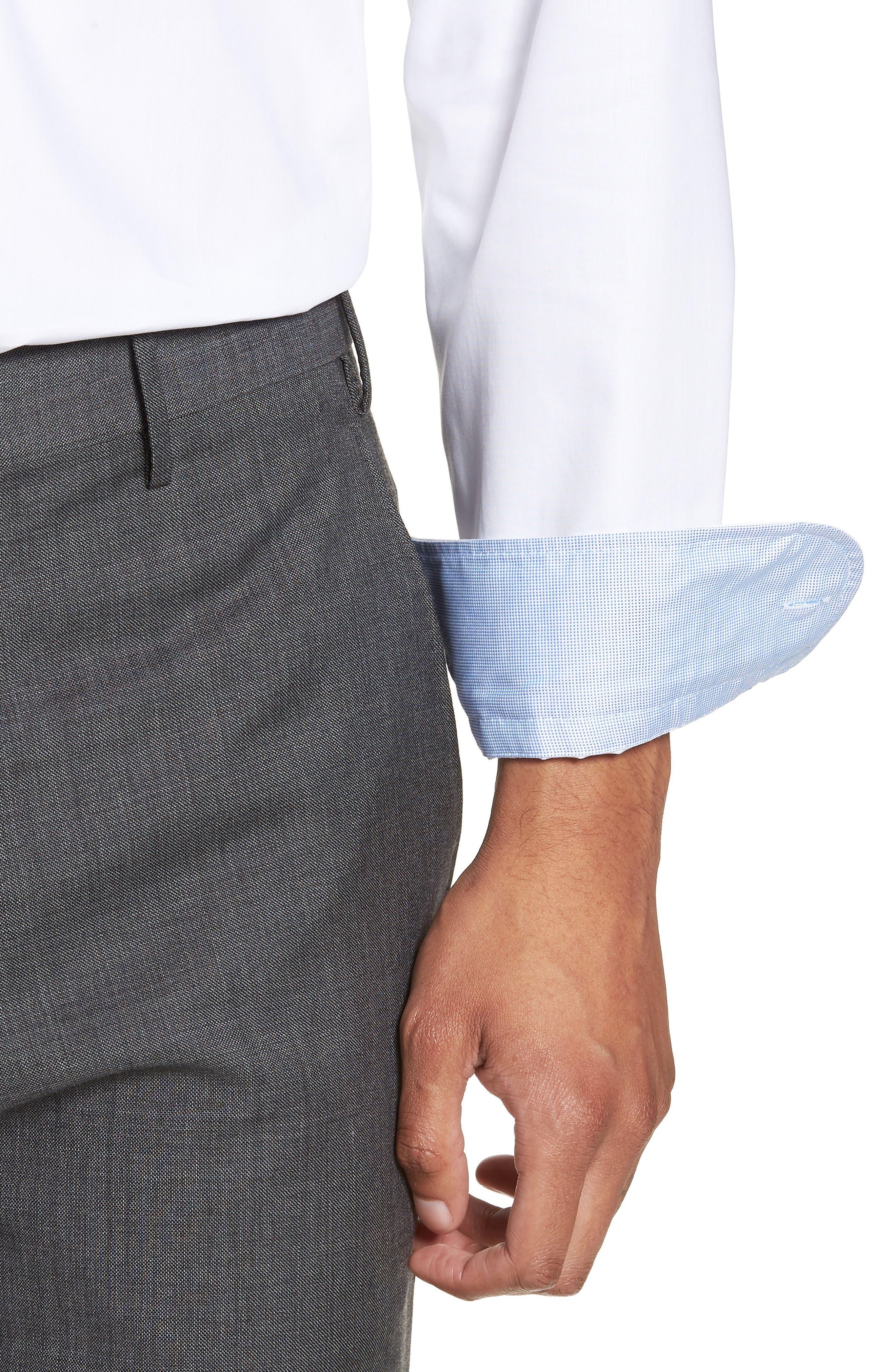 Jesse Slim Fit Easy Iron Dress Shirt,                             Alternate thumbnail 2, color,                             White
