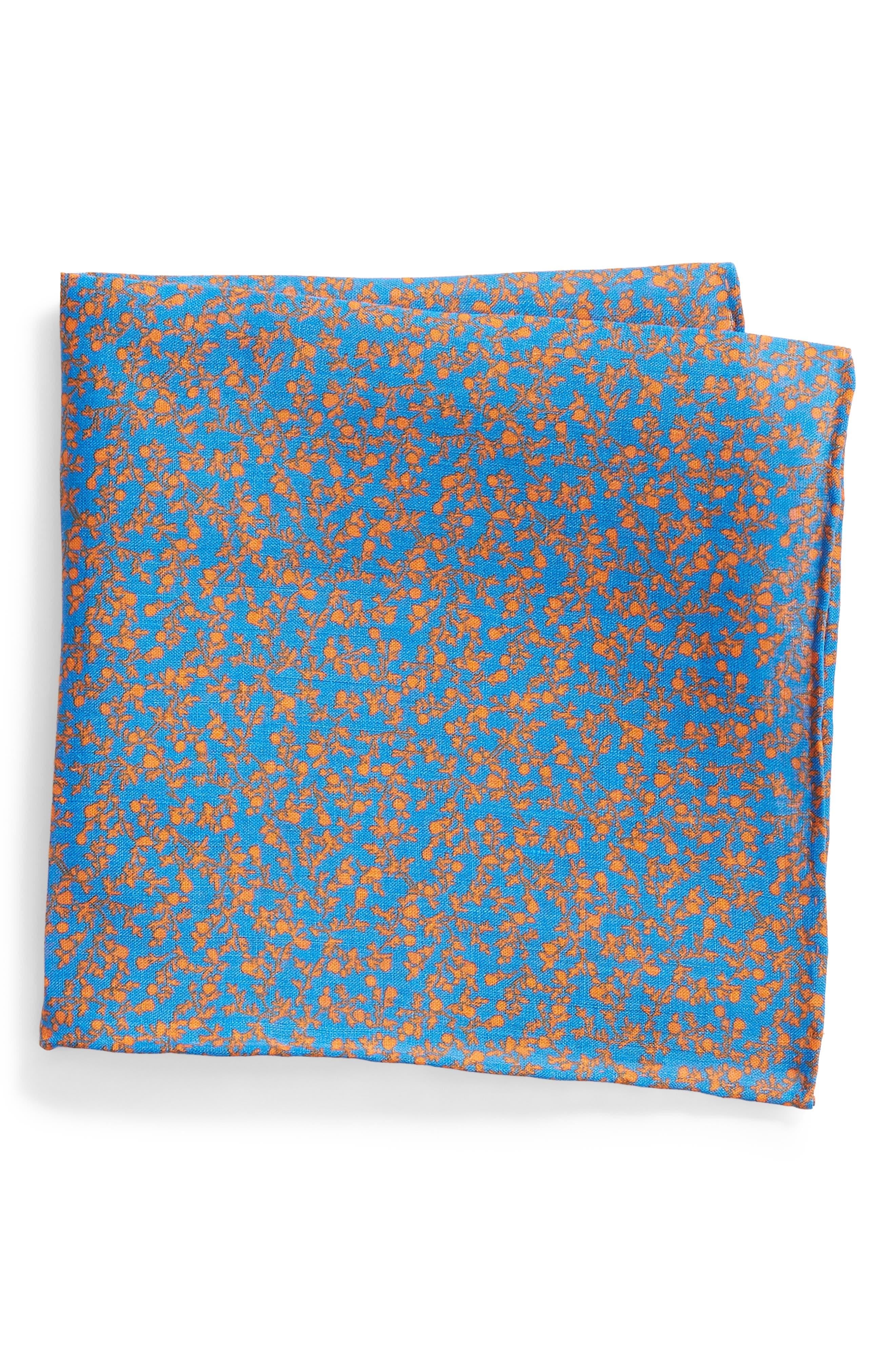 Pocket square orange/purple patterned Etro iPpLnWNd