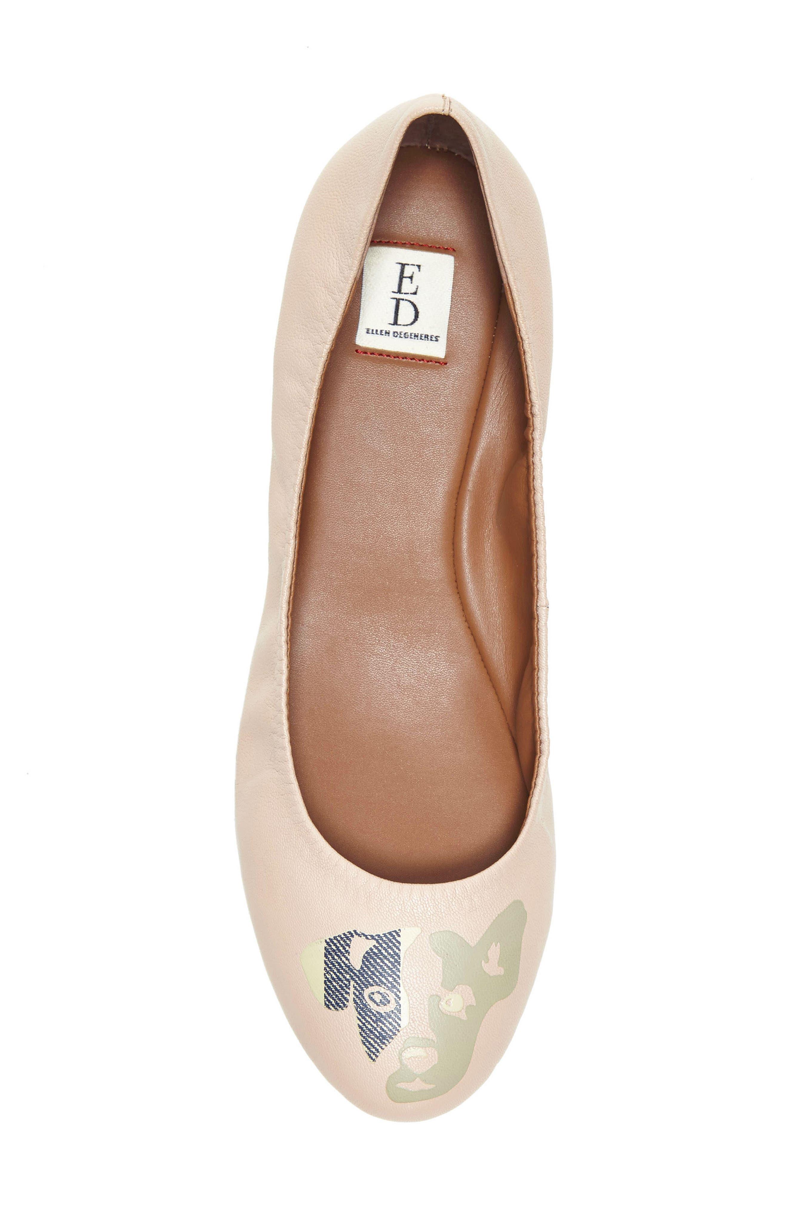 'Langston' Ballet Flat,                             Alternate thumbnail 4, color,                             Misty Rose Leather