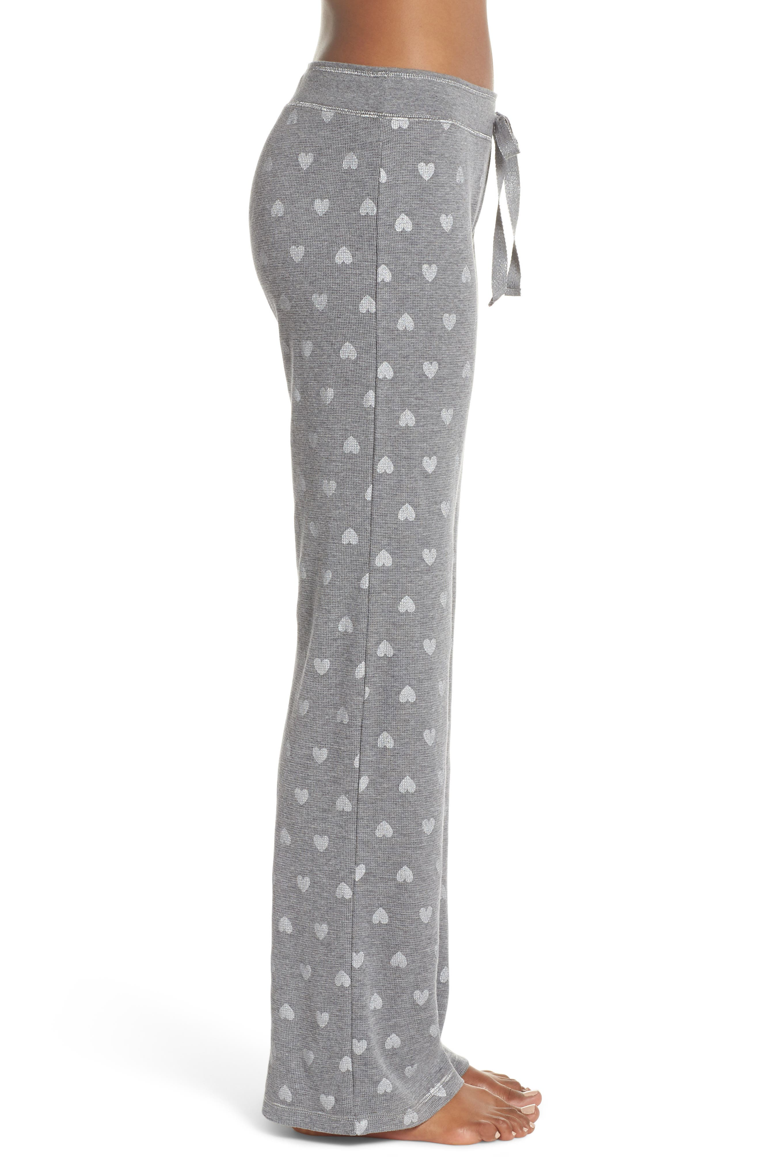Wild Heart Thermal Lounge Pants,                             Alternate thumbnail 3, color,                             H Grey