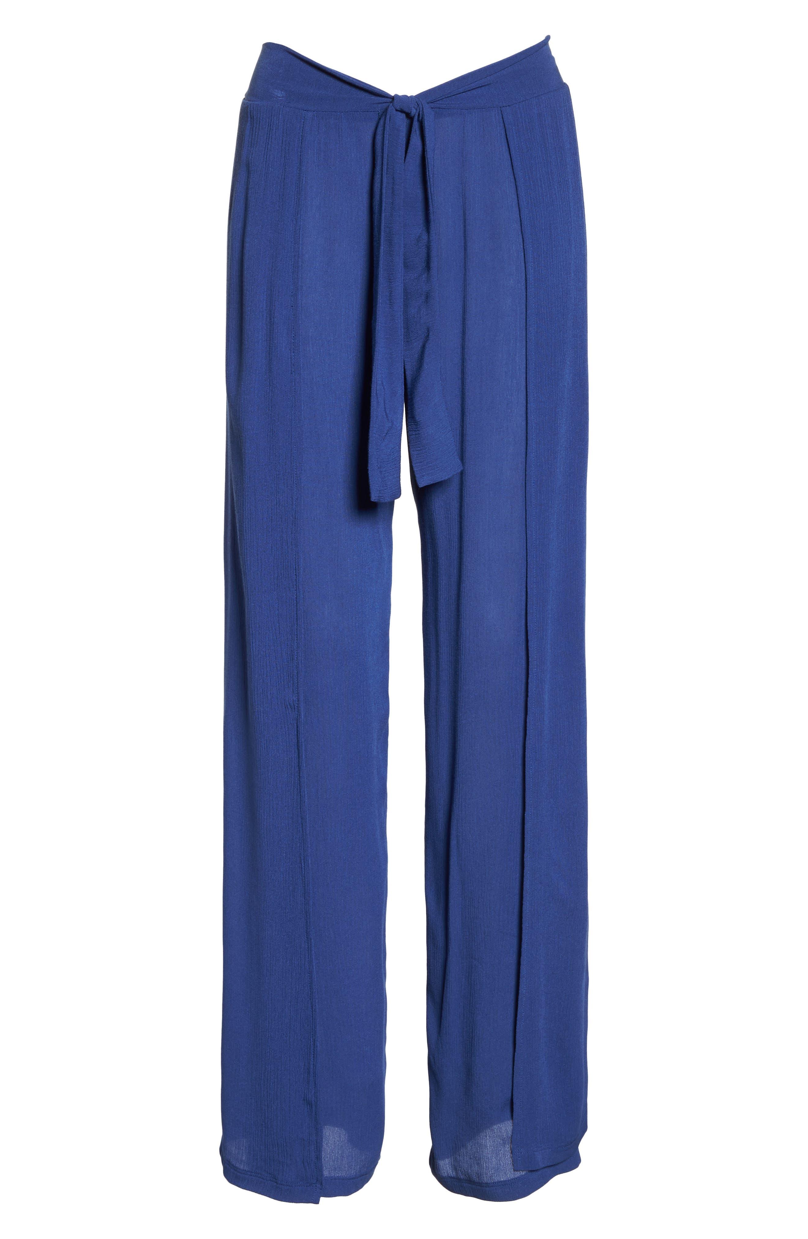 Modern Muse Cover-Up Flyaway Pants,                             Alternate thumbnail 6, color,                             Blue Topaz