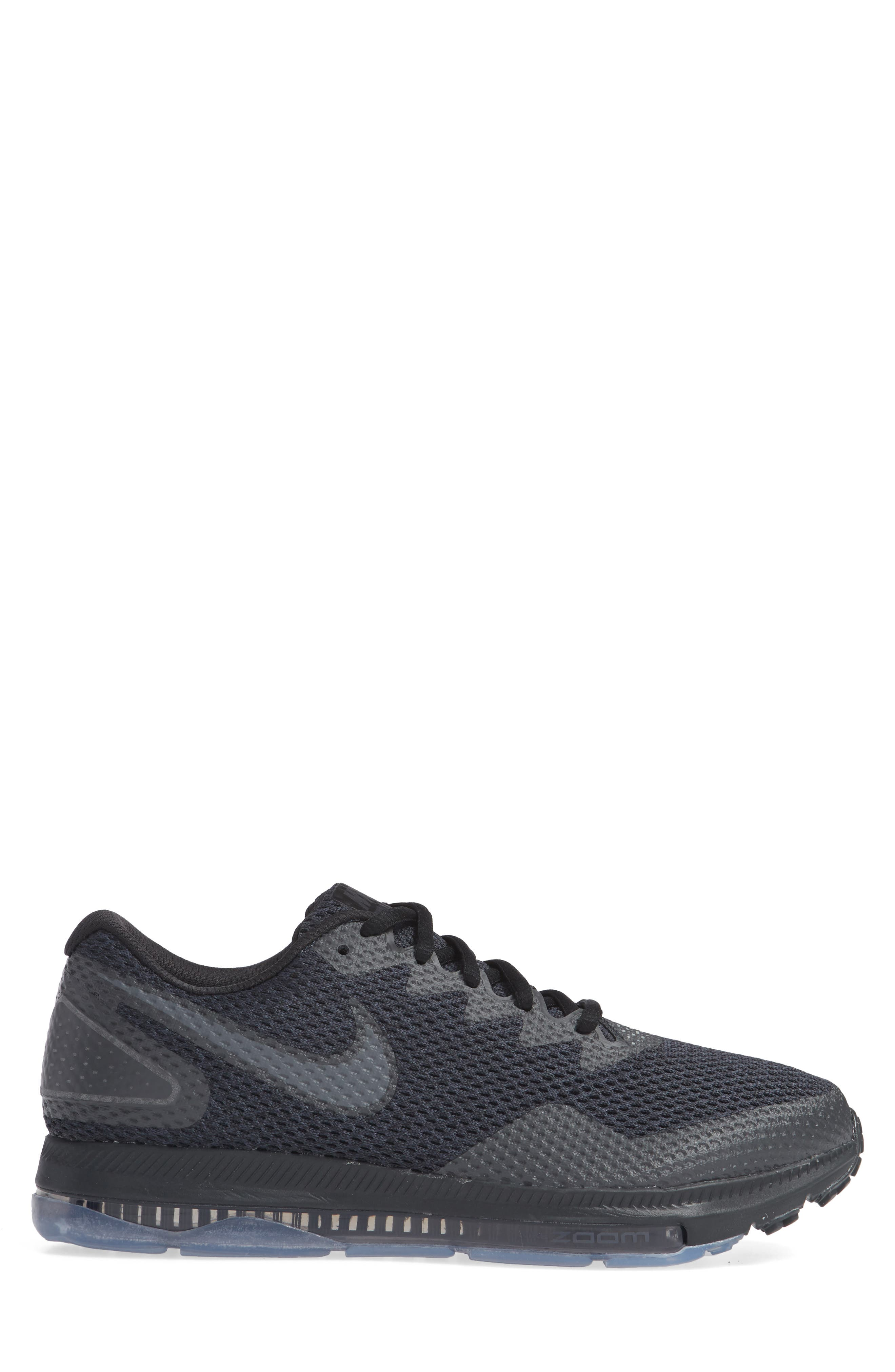 Zoom All Out Low 2 Running Shoe,                             Alternate thumbnail 4, color,                             Black/ Dark Grey/ Anthracite