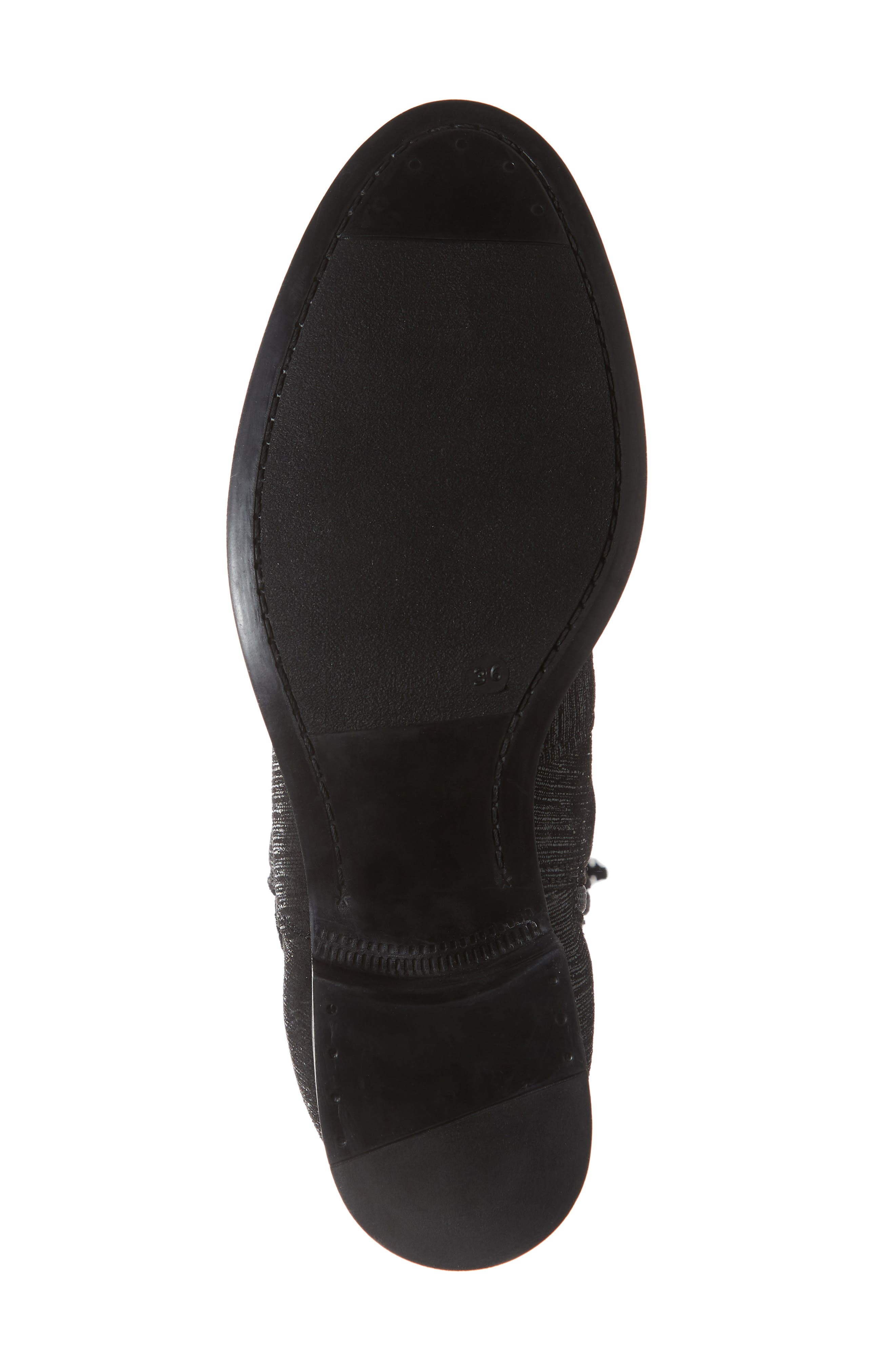Bunt Waterproof Over the Knee Boot,                             Alternate thumbnail 6, color,                             Black Metal/ Lycra