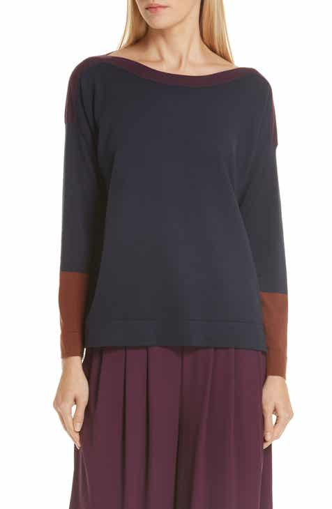 eileen fisher colorblock tencel lyocell blend sweater