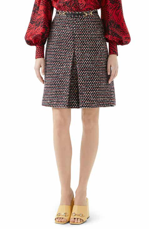 Gucci Sequin Tweed Miniskirt by GUCCI