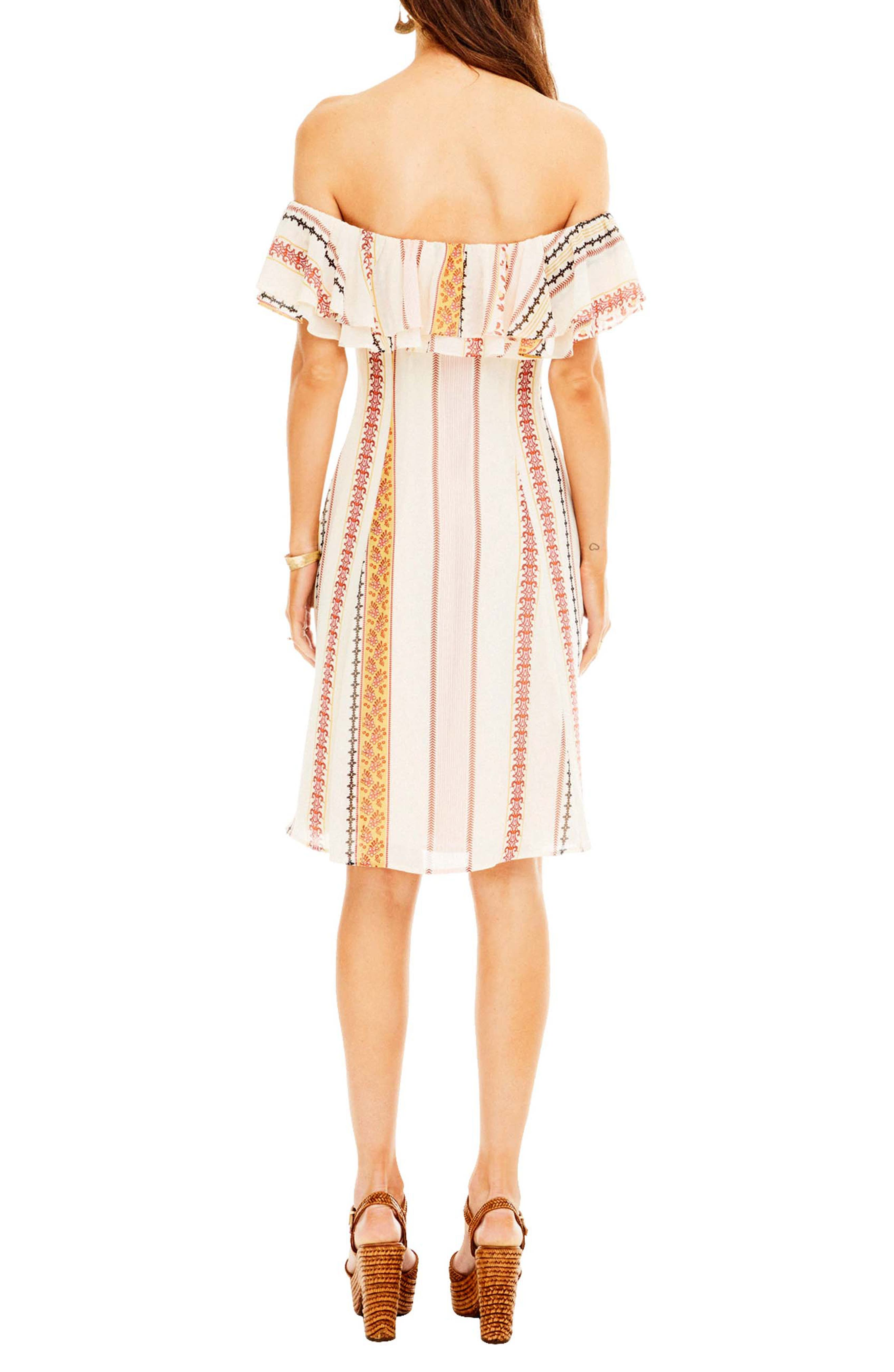Cassidy Dress,                             Alternate thumbnail 2, color,                             Cream Floral Stripe