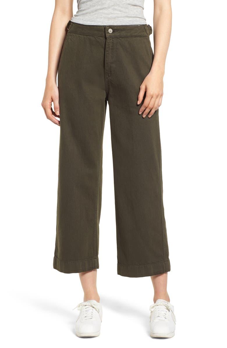 Hepburn Wide Leg Denim Pants