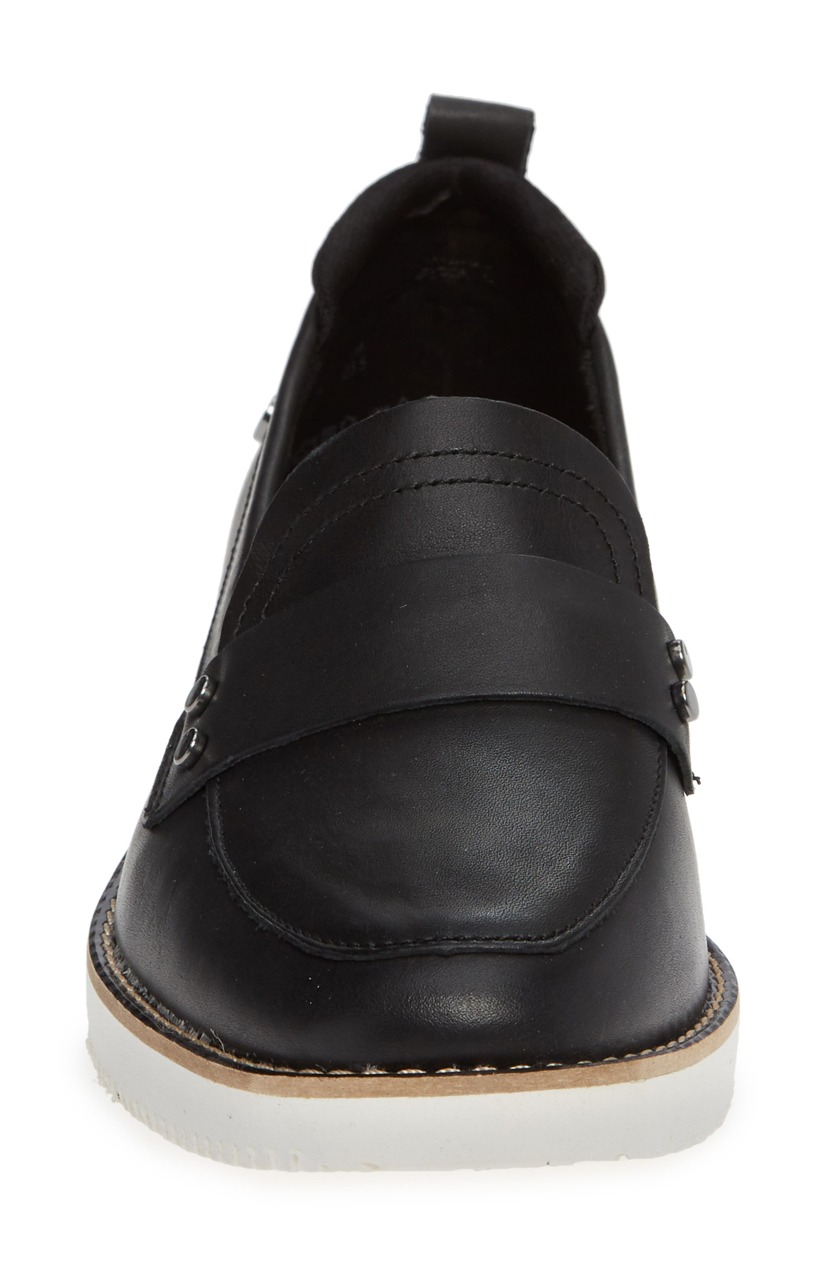 Chowchow Loafer,                             Alternate thumbnail 5, color,                             Black Leather