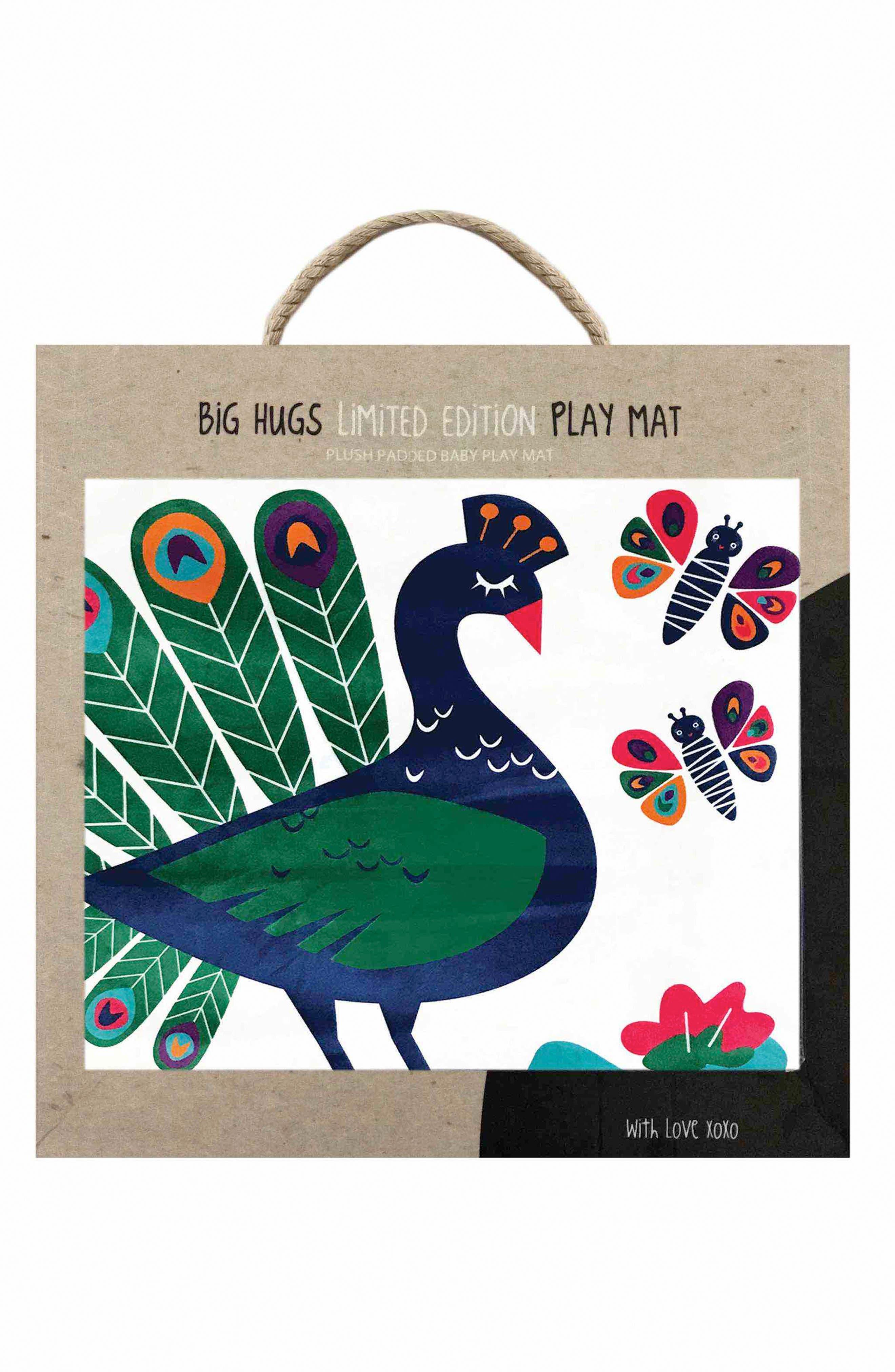 Peacock Paradise Play Mat,                             Alternate thumbnail 2, color,                             Green/ Blue/ Purple