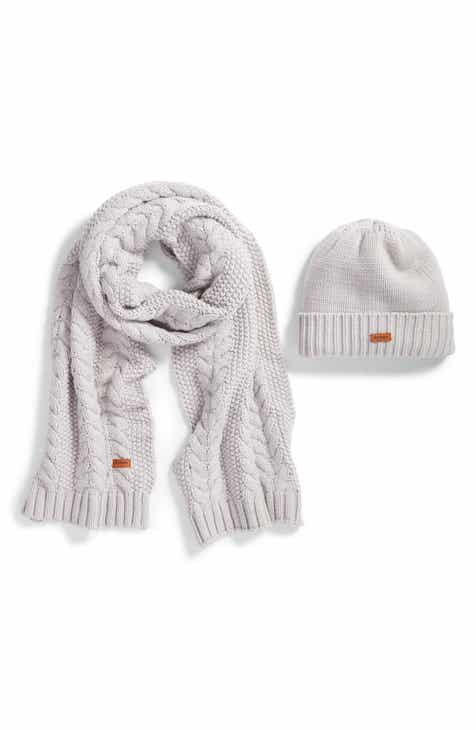 82614286d579e Barbour Cable Knit Hat   Scarf Set