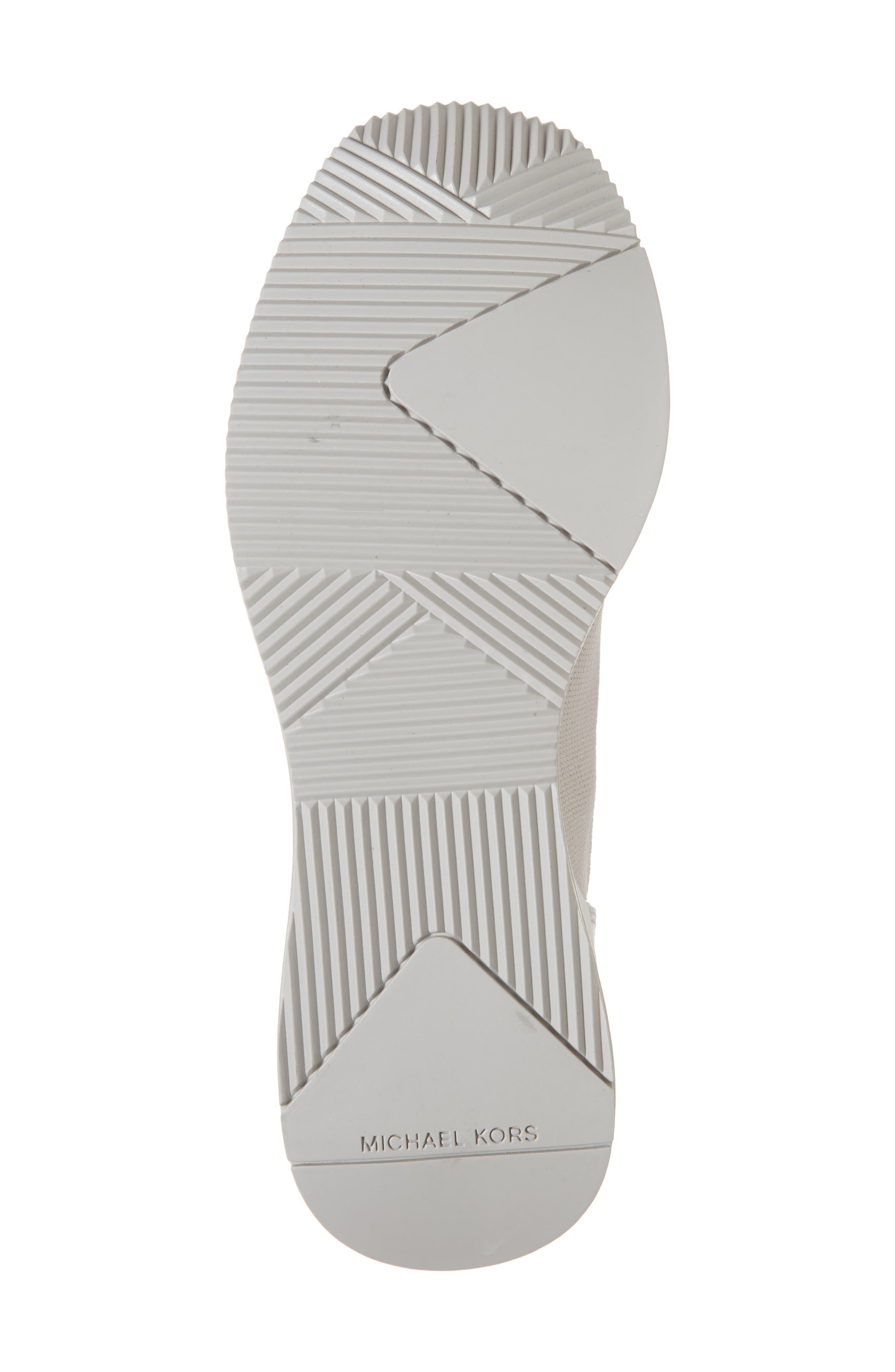 Skyler Knit Bootie,                             Alternate thumbnail 6, color,                             Aluminum/ Silver Knit Fabric