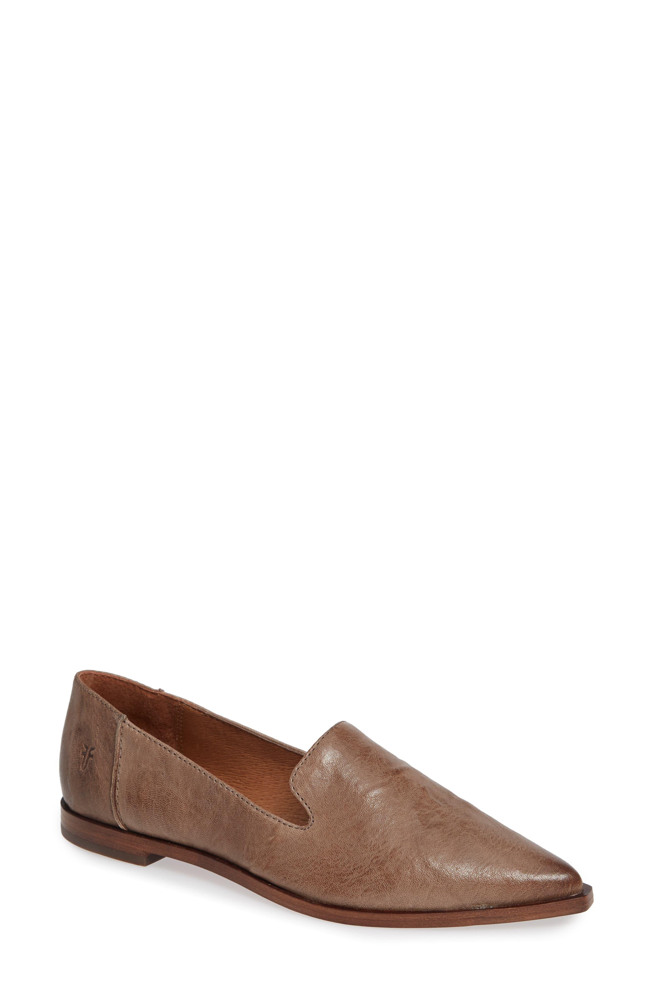 Kenzie Venetian Flat, Grey Leather