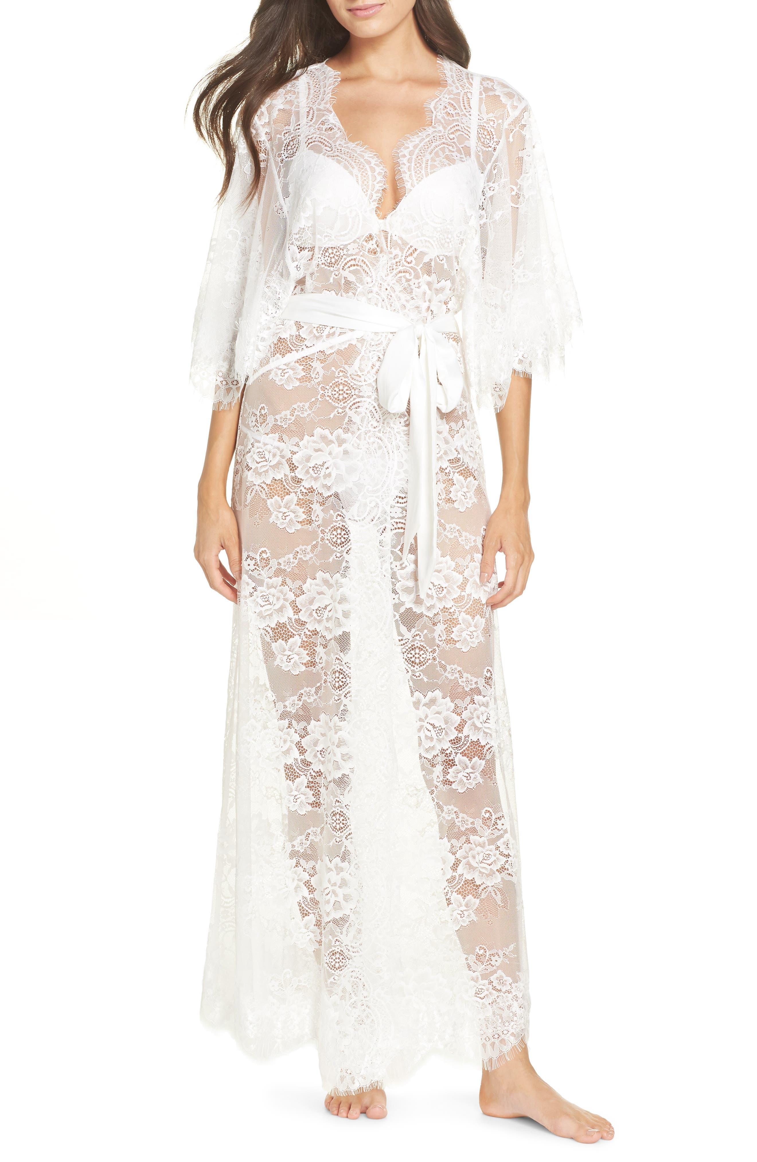 HOMEBODII Kassiah Long Wrap in White