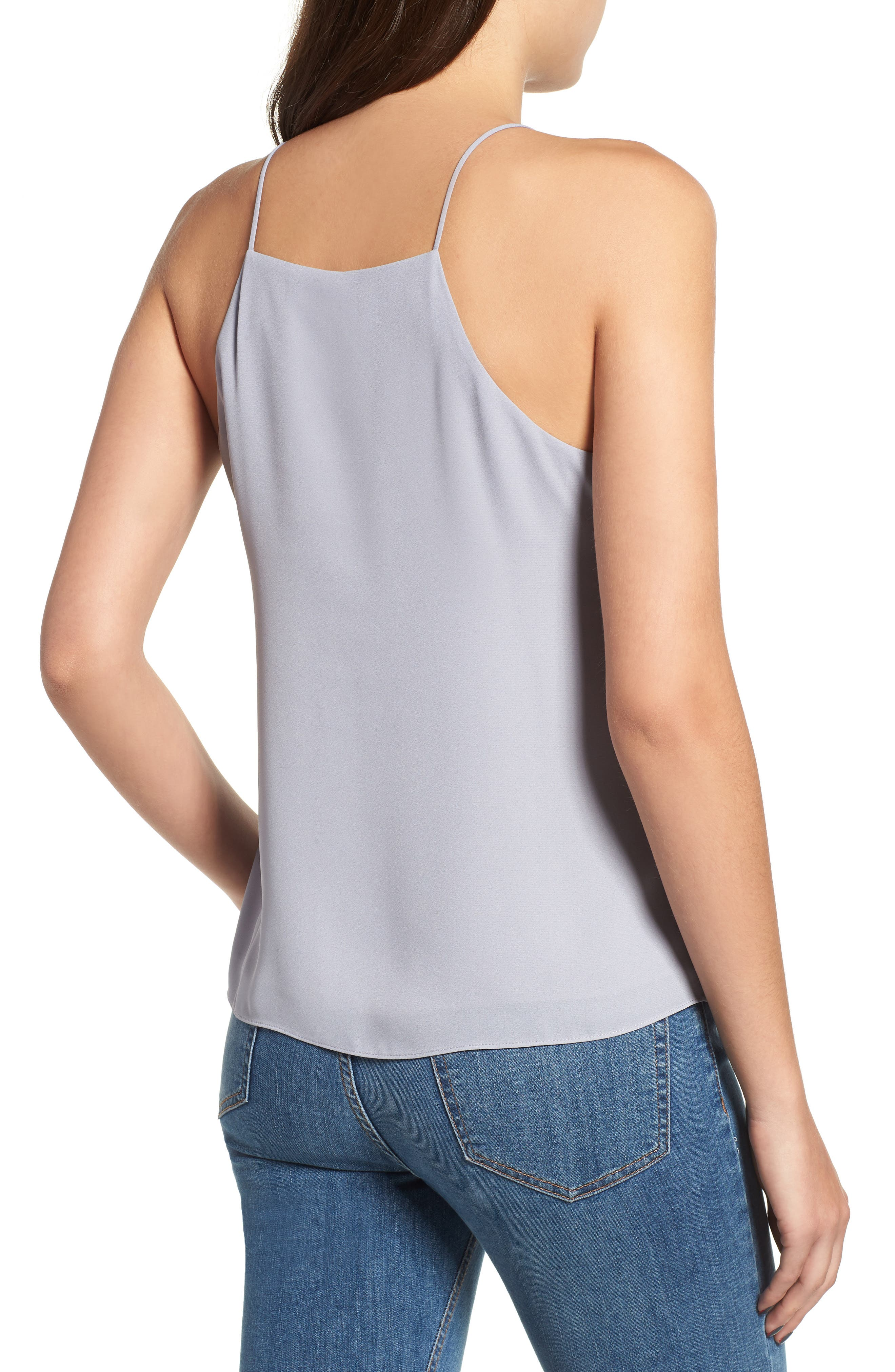 Posie Strappy Camisole,                             Alternate thumbnail 2, color,                             Grey Lilac