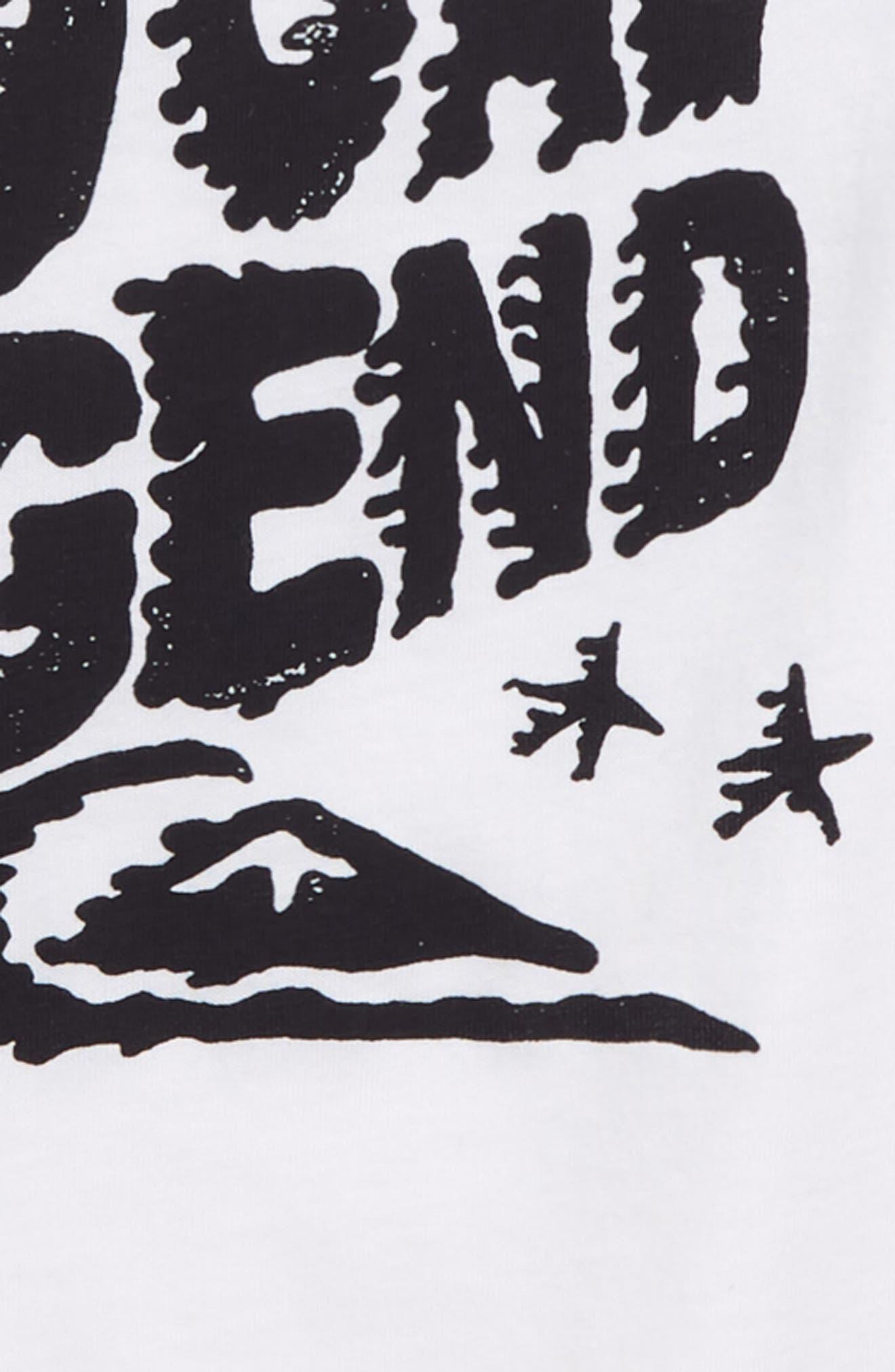 Legend Graphic T-Shirt,                             Alternate thumbnail 2, color,                             White