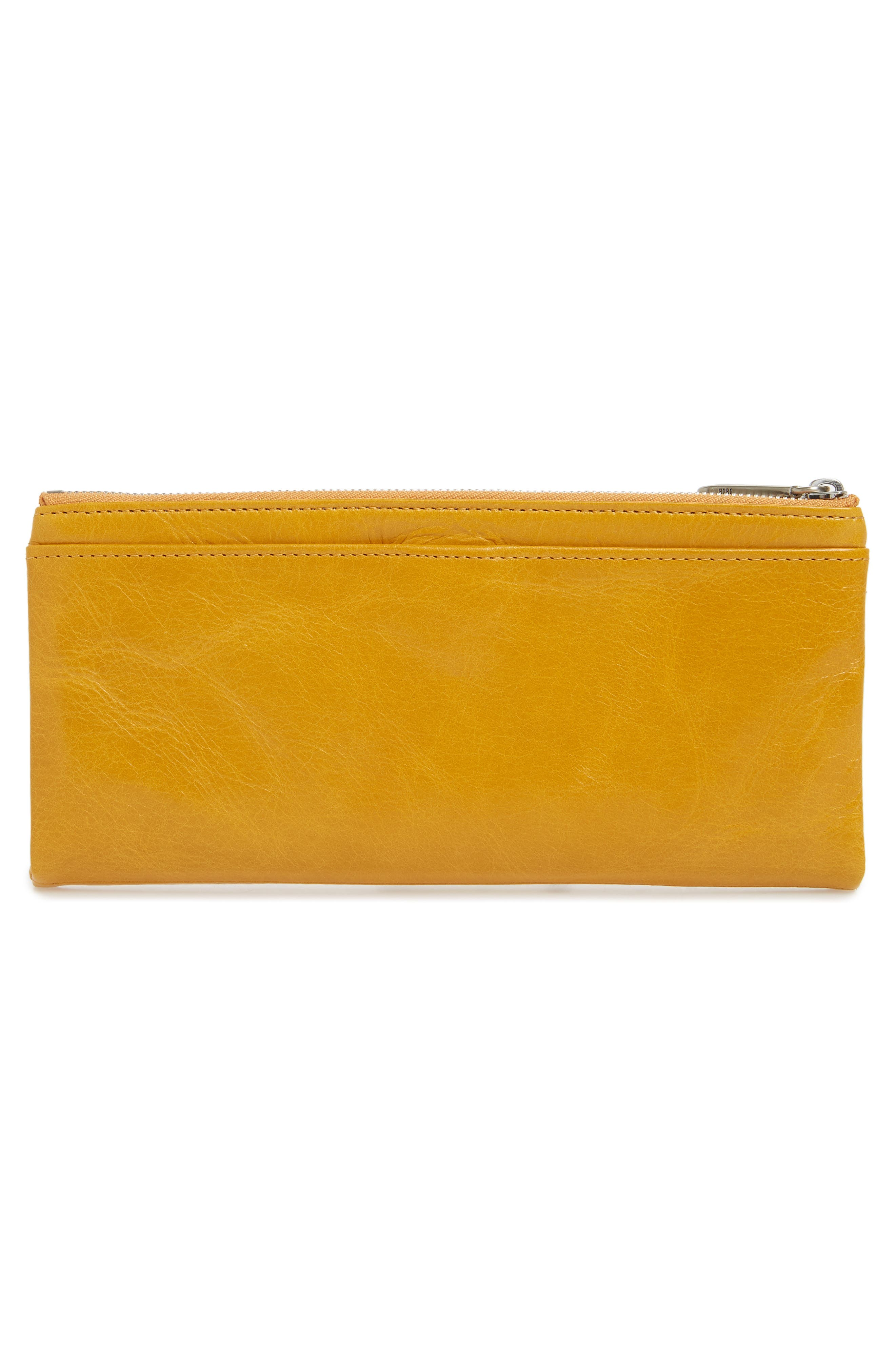 'Taylor' Glazed Leather Wallet,                             Alternate thumbnail 3, color,                             Amber