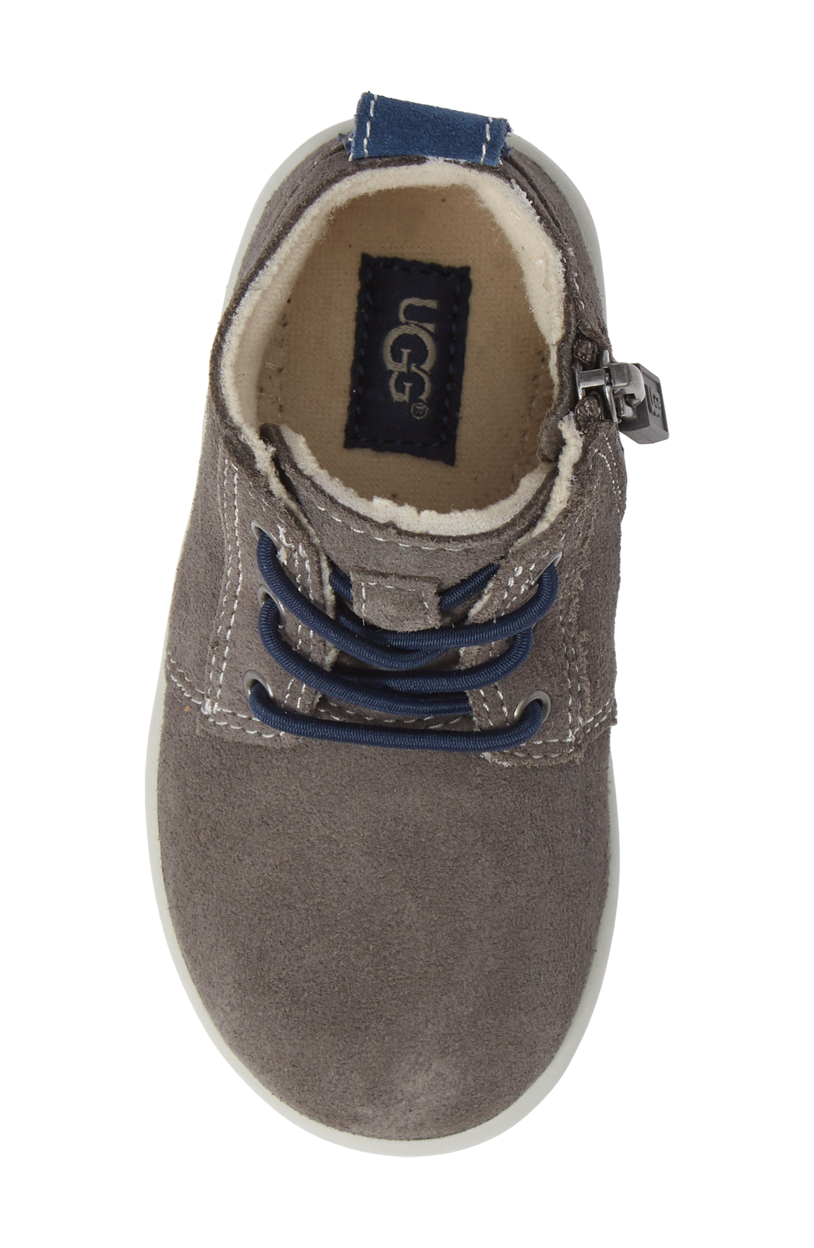 Kristjan Chukka Bootie Sneaker,                             Alternate thumbnail 3, color,                             Charcoal Grey