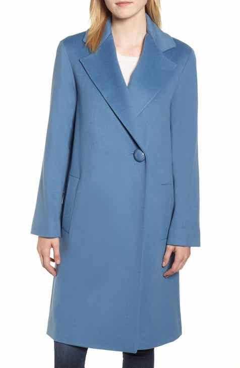 0dff3ae2b81cd Fleurette One-Button Loro Piana Wool Coat