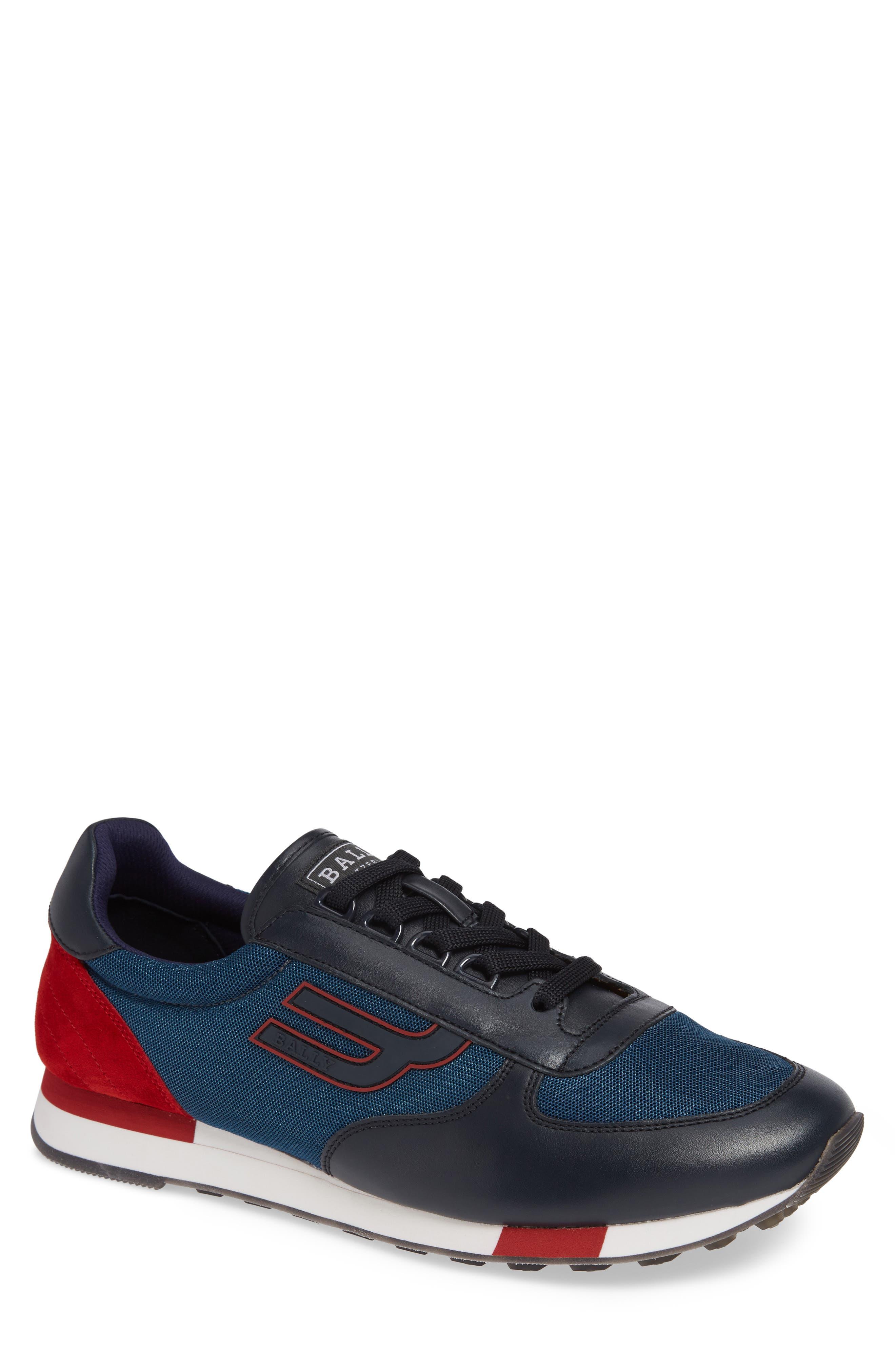 Gavino Low Top Sneaker,                         Main,                         color, Blue