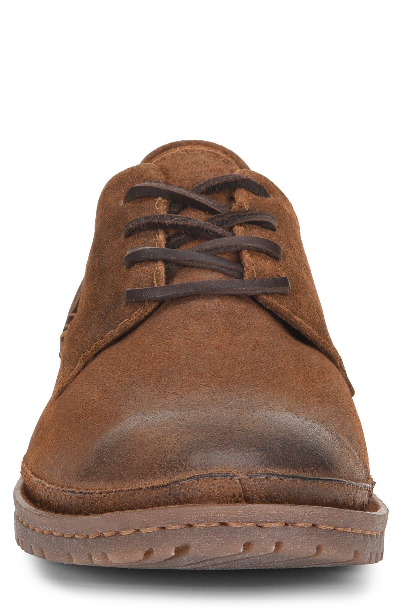 Gilles Plain Toe Derby,                             Alternate thumbnail 6, color,                             Brown/Brown Leather