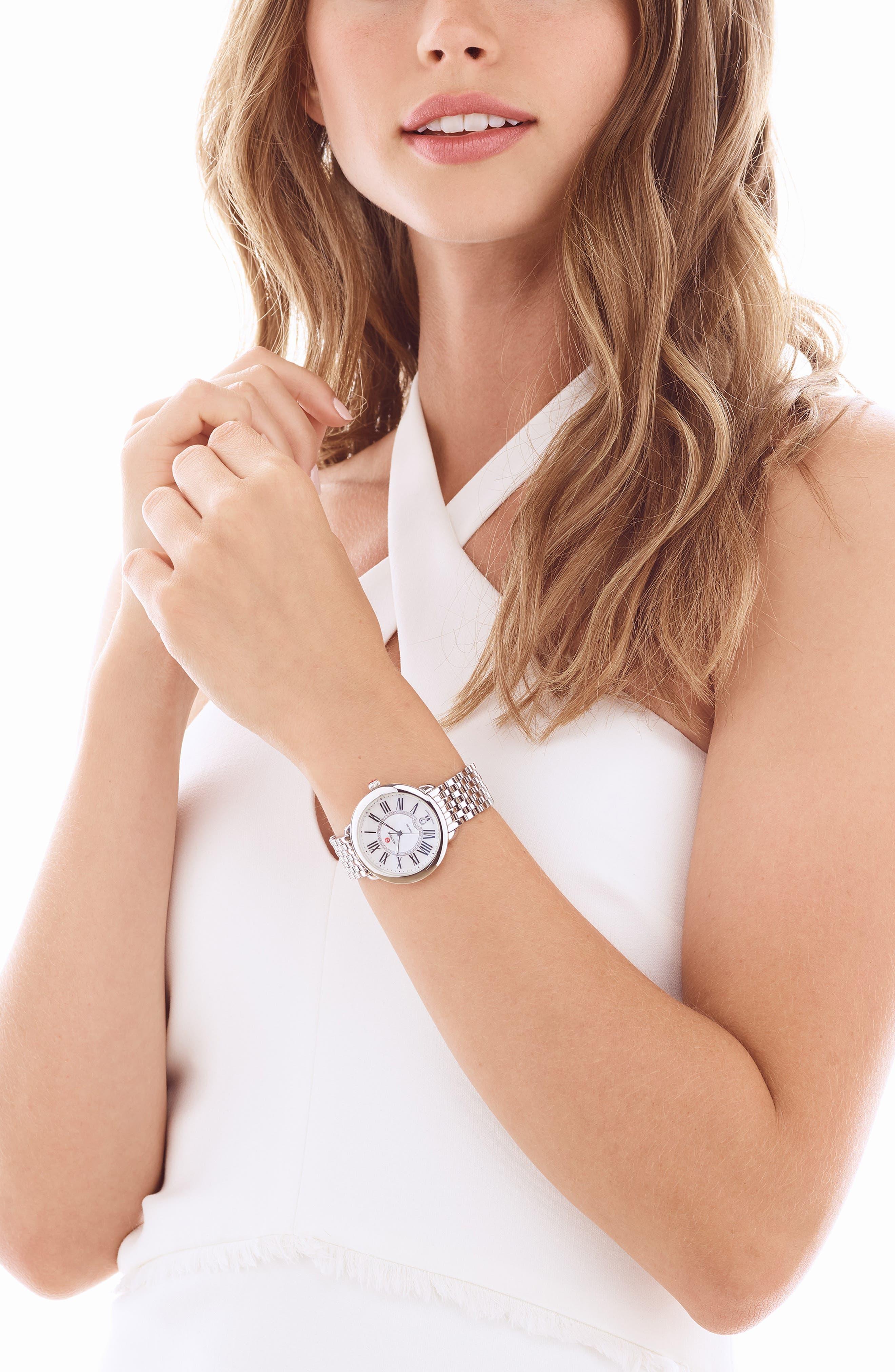 Serein 16 16mm Bracelet Watchband,                             Alternate thumbnail 5, color,                             Silver