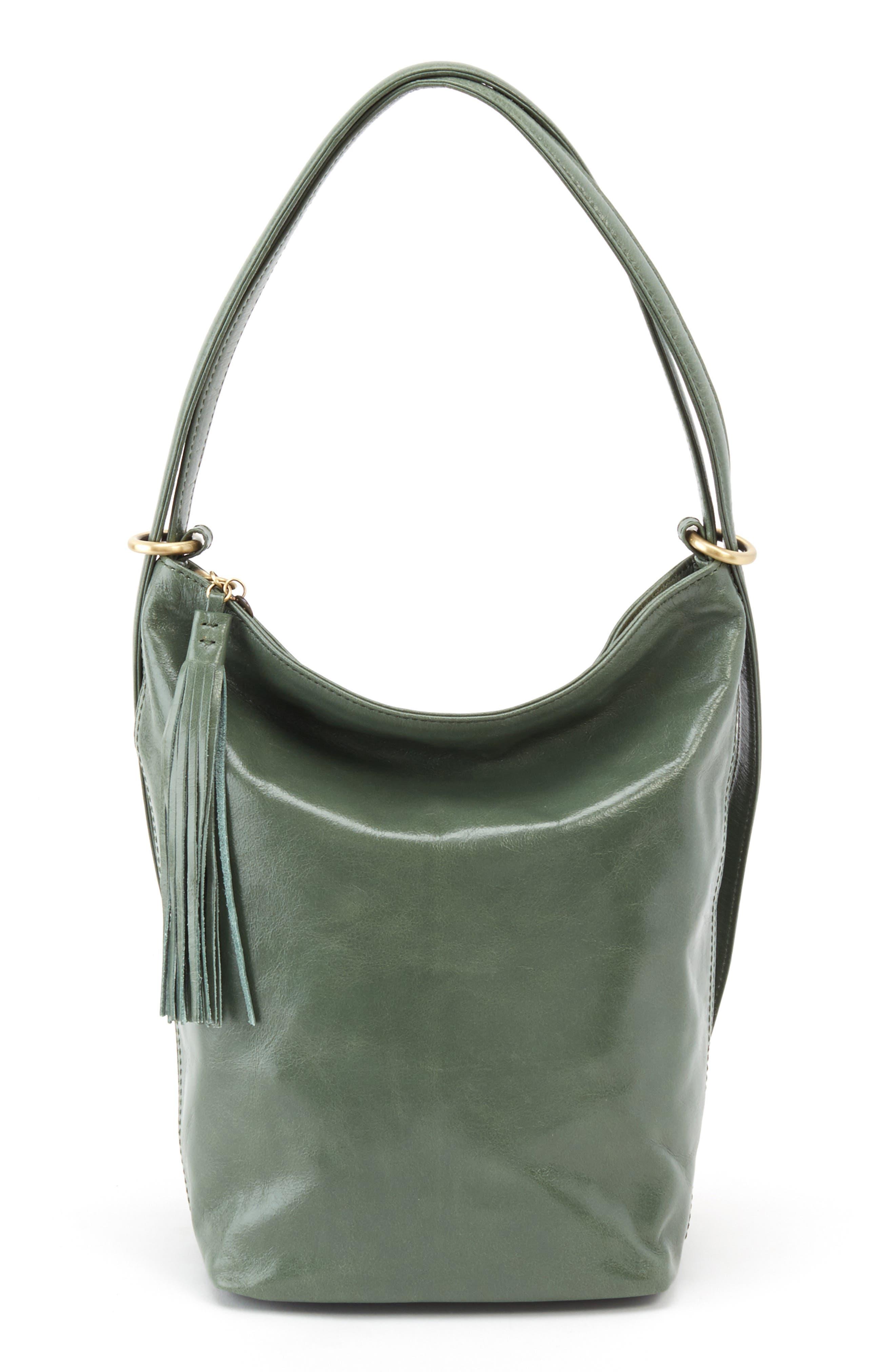 Blaze Convertible Leather Shoulder Bag,                             Main thumbnail 1, color,                             Moss