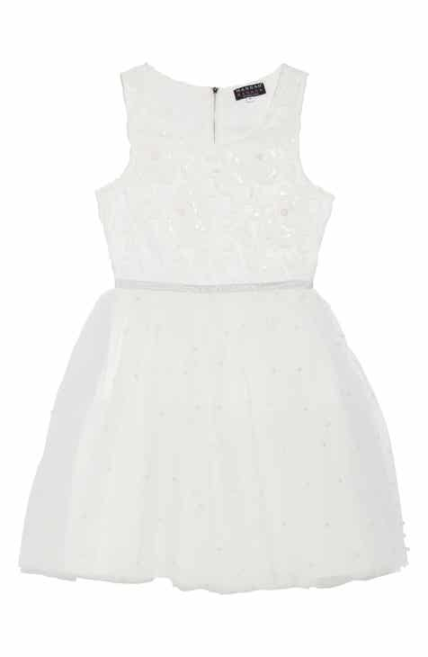 Flower girl dresses accessories nordstrom hannah banana embellished tulle fit flare dress big girls mightylinksfo