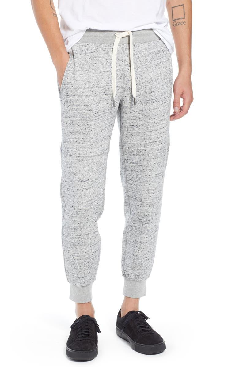 Trim Fit Marled Knit Jogger Pants