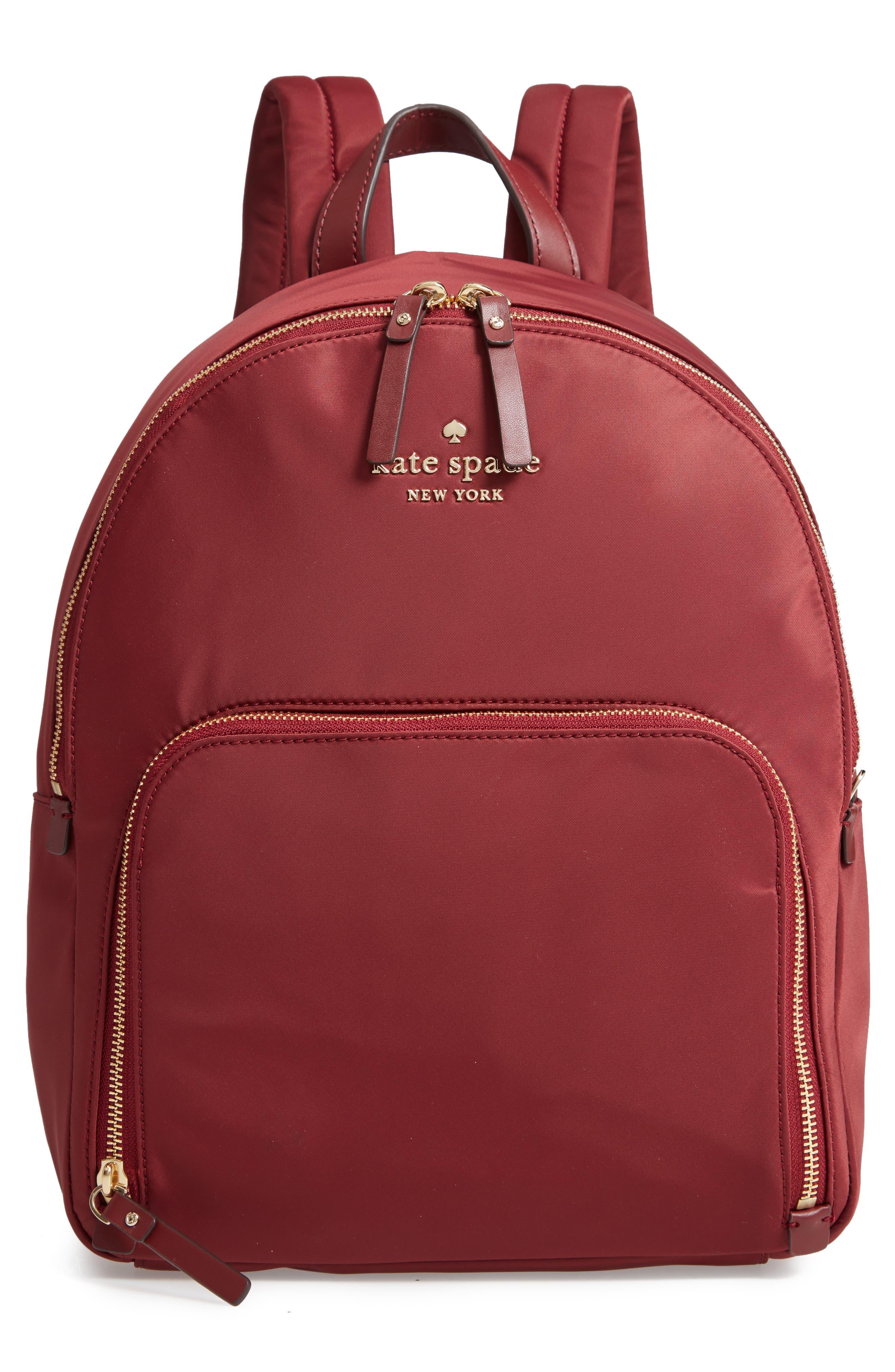 Watson Lane - Hartley Nylon Backpack - Red, Dark Currant