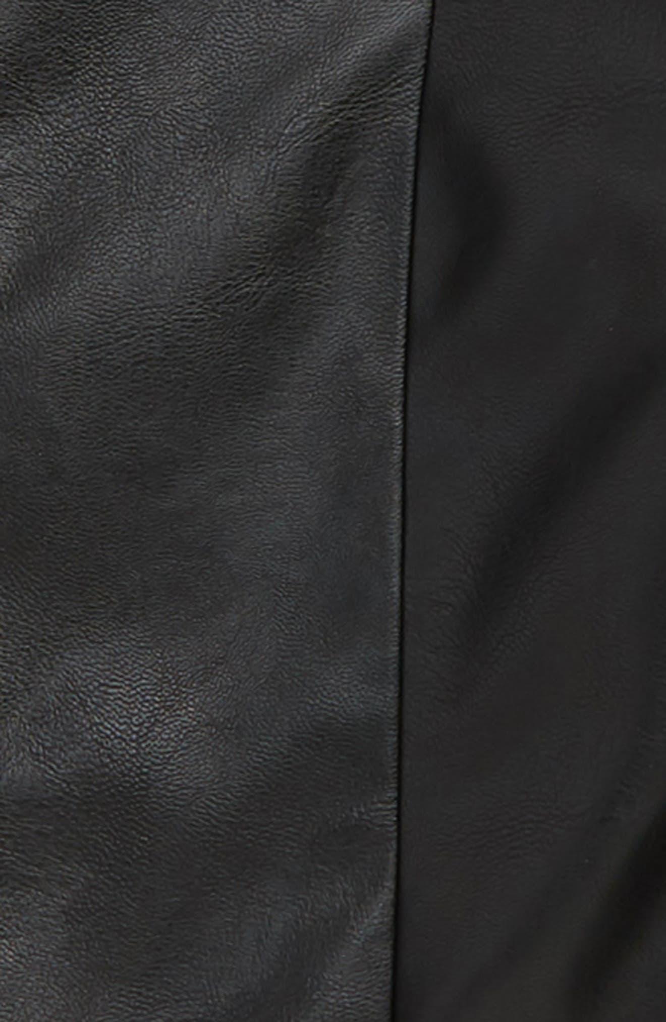 Emma Faux Leather Jacket,                             Alternate thumbnail 2, color,                             Black