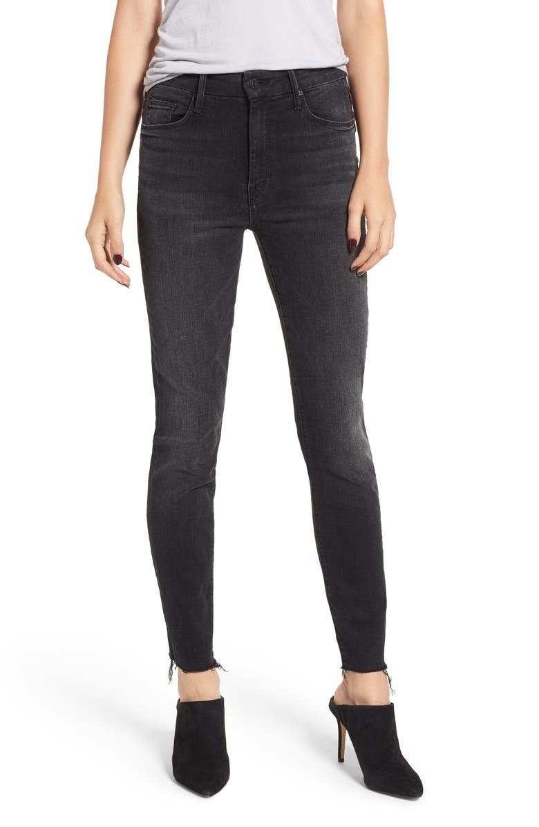The Looker High Waist Frayed Ankle Jeans