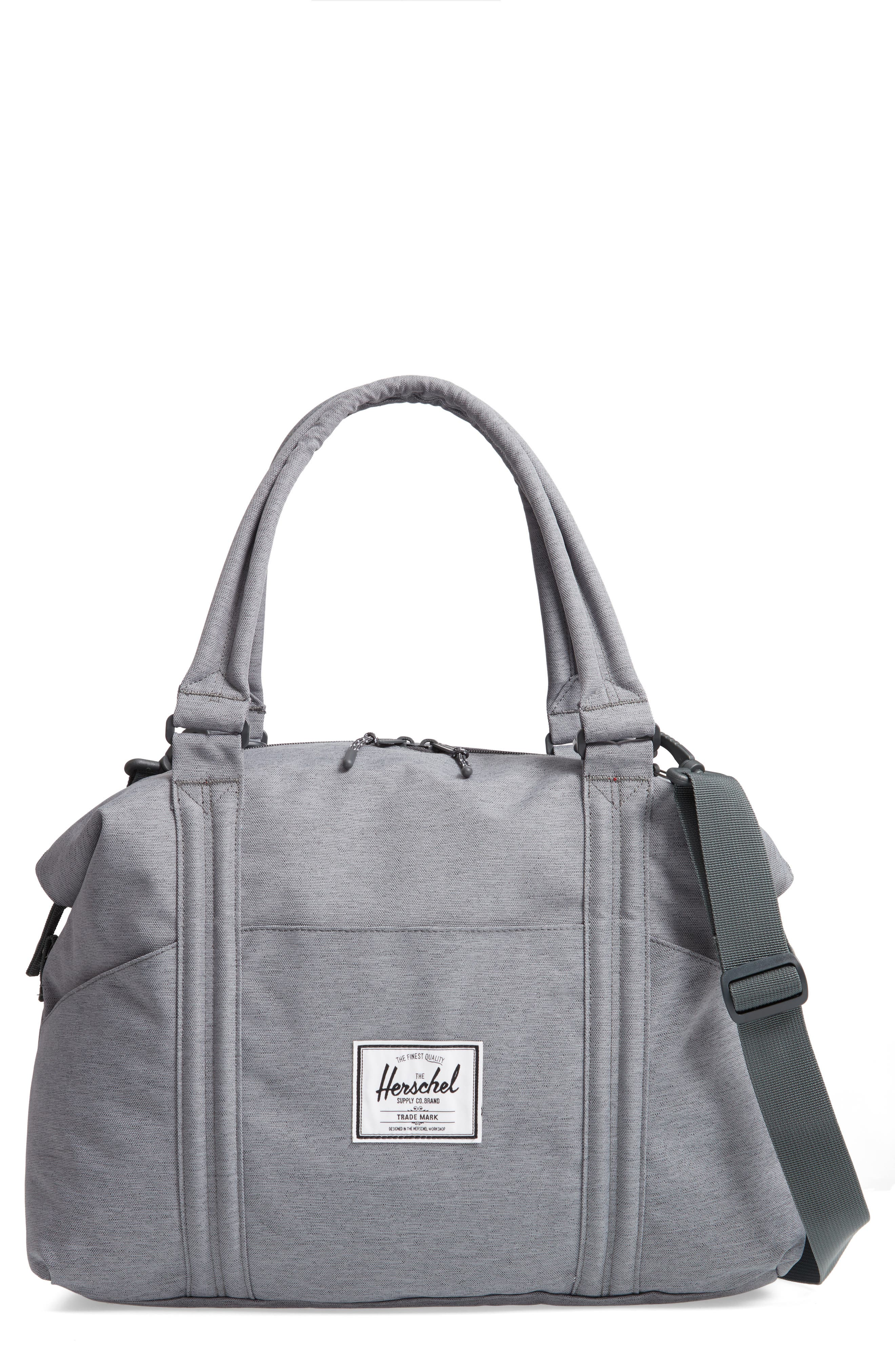 Strand Sprout Diaper Bag,                             Main thumbnail 1, color,                             Mid Grey Crosshatch