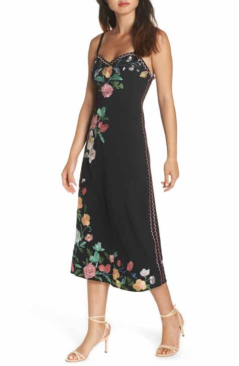 Floral dress nordstrom foxiedox flower embroidered midi dress mightylinksfo