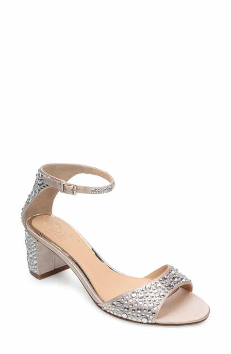 37ac9e9048b7 Jewel Badgley Mischka Crystal Block Heel Sandal (Women)