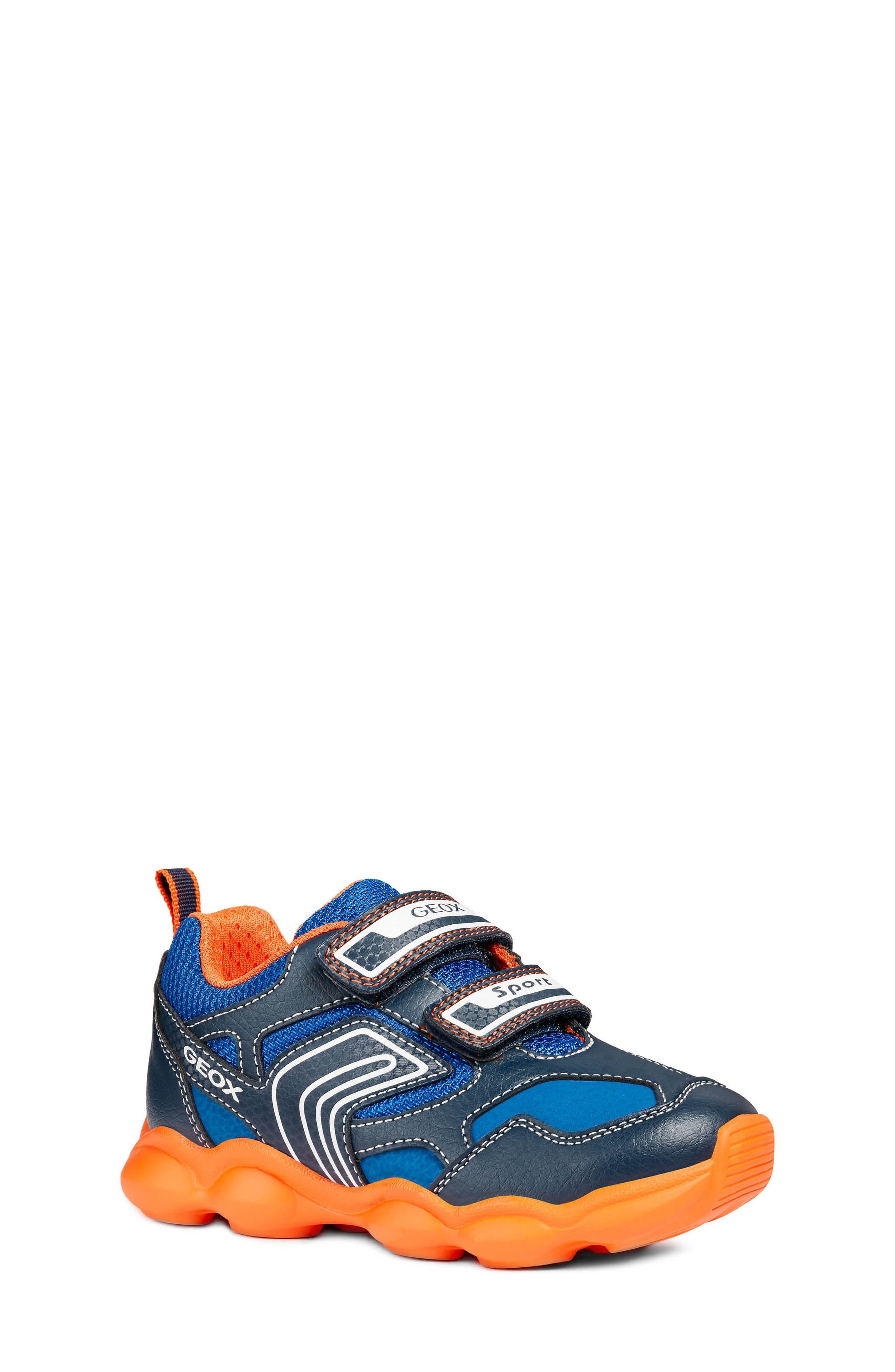 Munfrey Sneaker,                         Main,                         color, Navy Blue/Orange