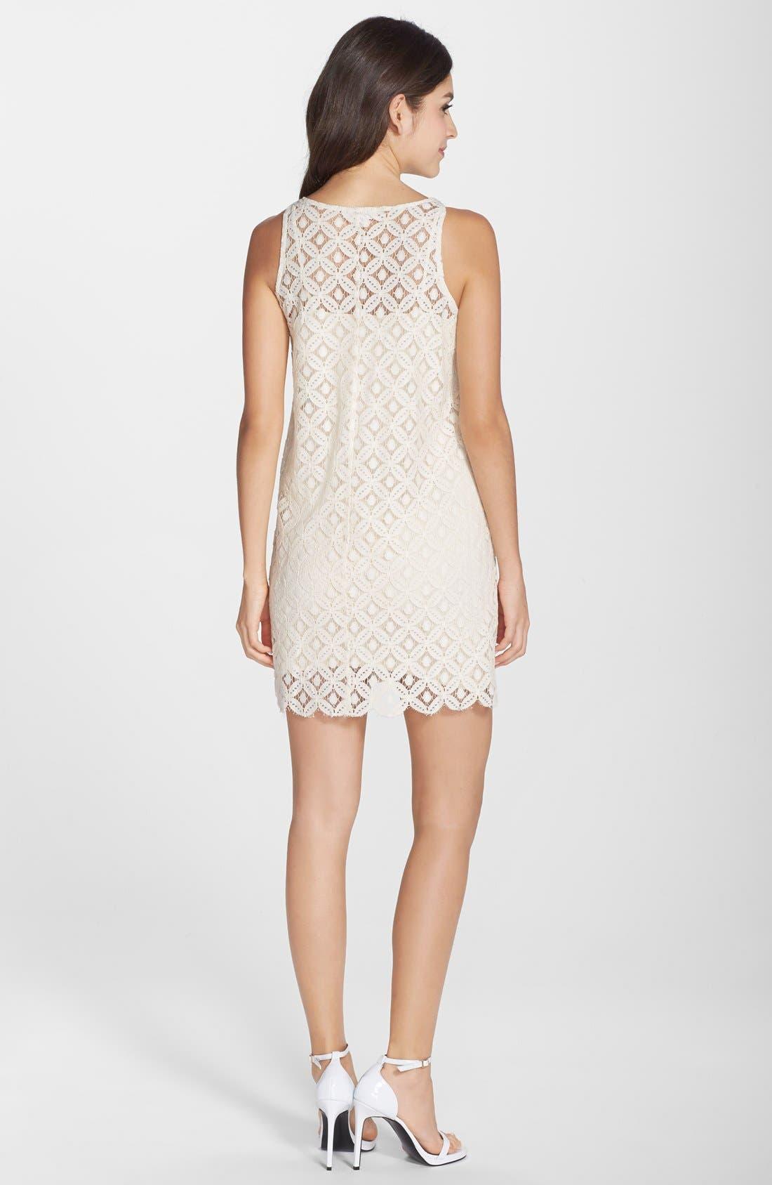 Alternate Image 2  - BB Dakota 'Mark' Lace Sleeveless Shift Dress