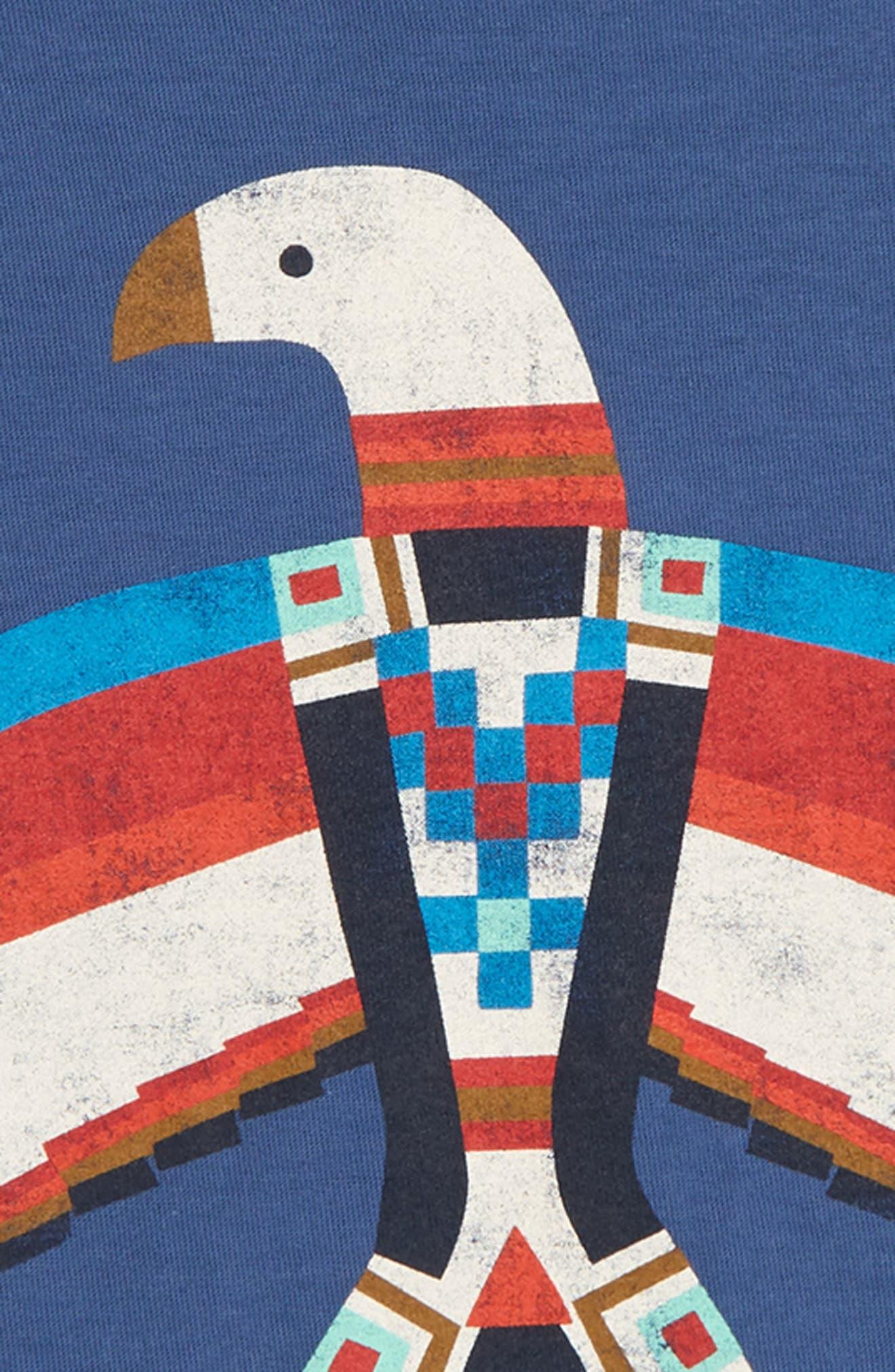 Dakota Bird Graphic T-Shirt,                             Alternate thumbnail 2, color,                             Cobalt