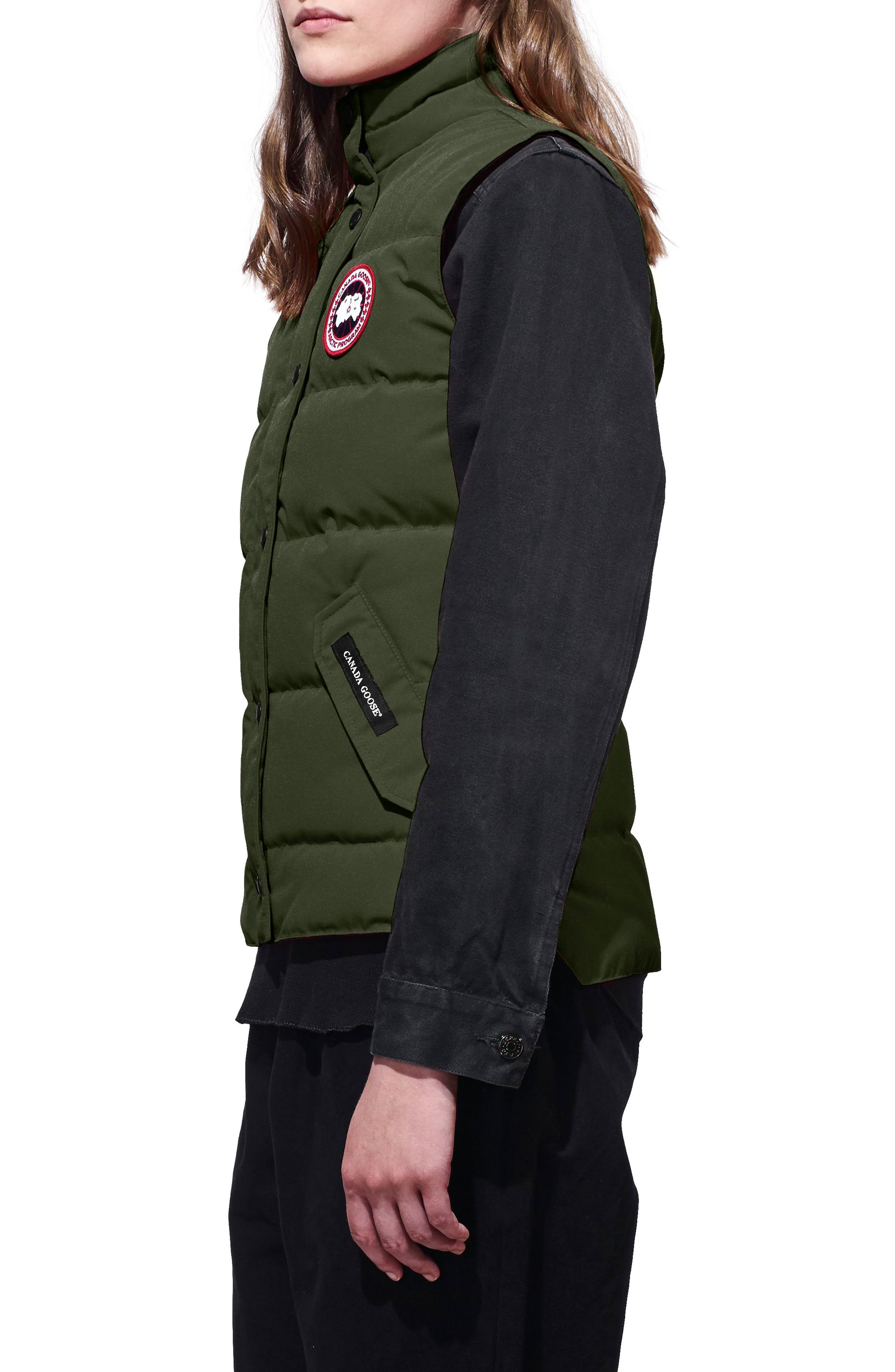 'Freestyle' Slim Fit Down Vest,                             Alternate thumbnail 3, color,                             Military Green