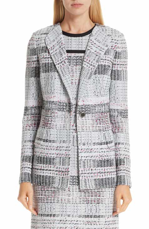 St. John Collection Bianca Plaid Knit Jacket by ST. JOHN COLLECTION