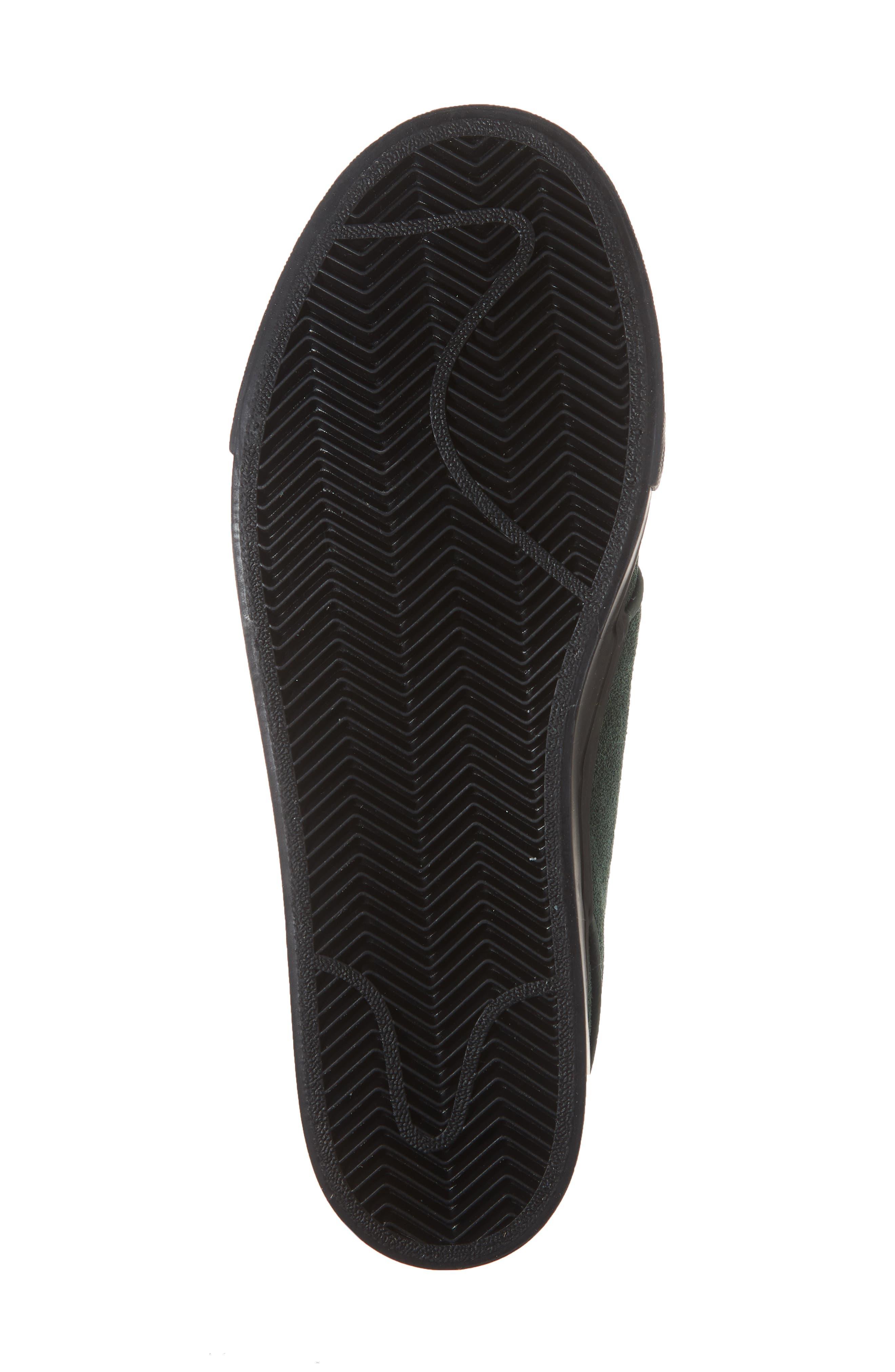 'Zoom - Stefan Janoski' Skate Shoe,                             Alternate thumbnail 4, color,                             Midnight Green/ Black