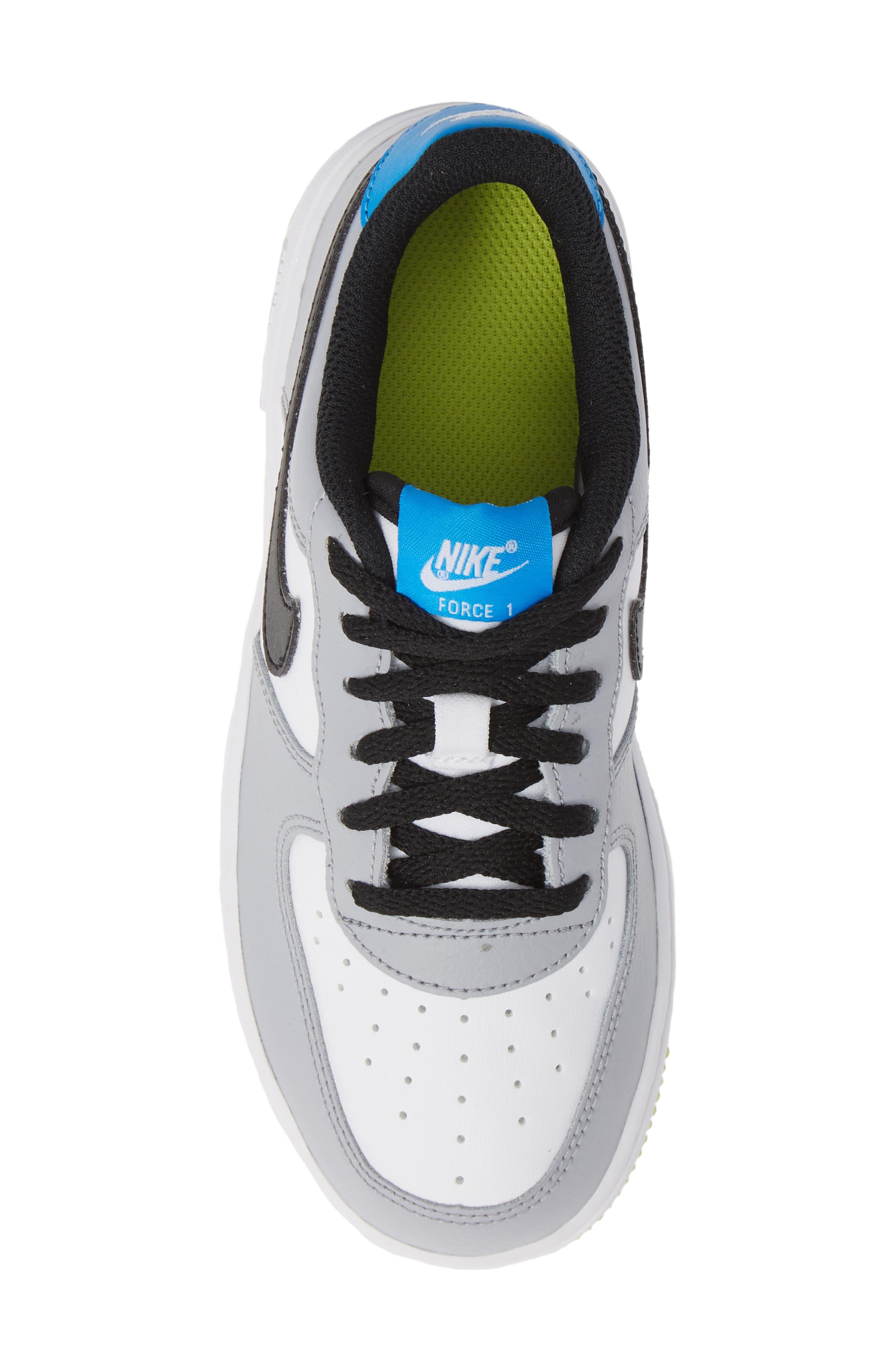 Air Force 1 Sneaker,                             Alternate thumbnail 5, color,                             Wolf Grey/ Black/ White/ Blue
