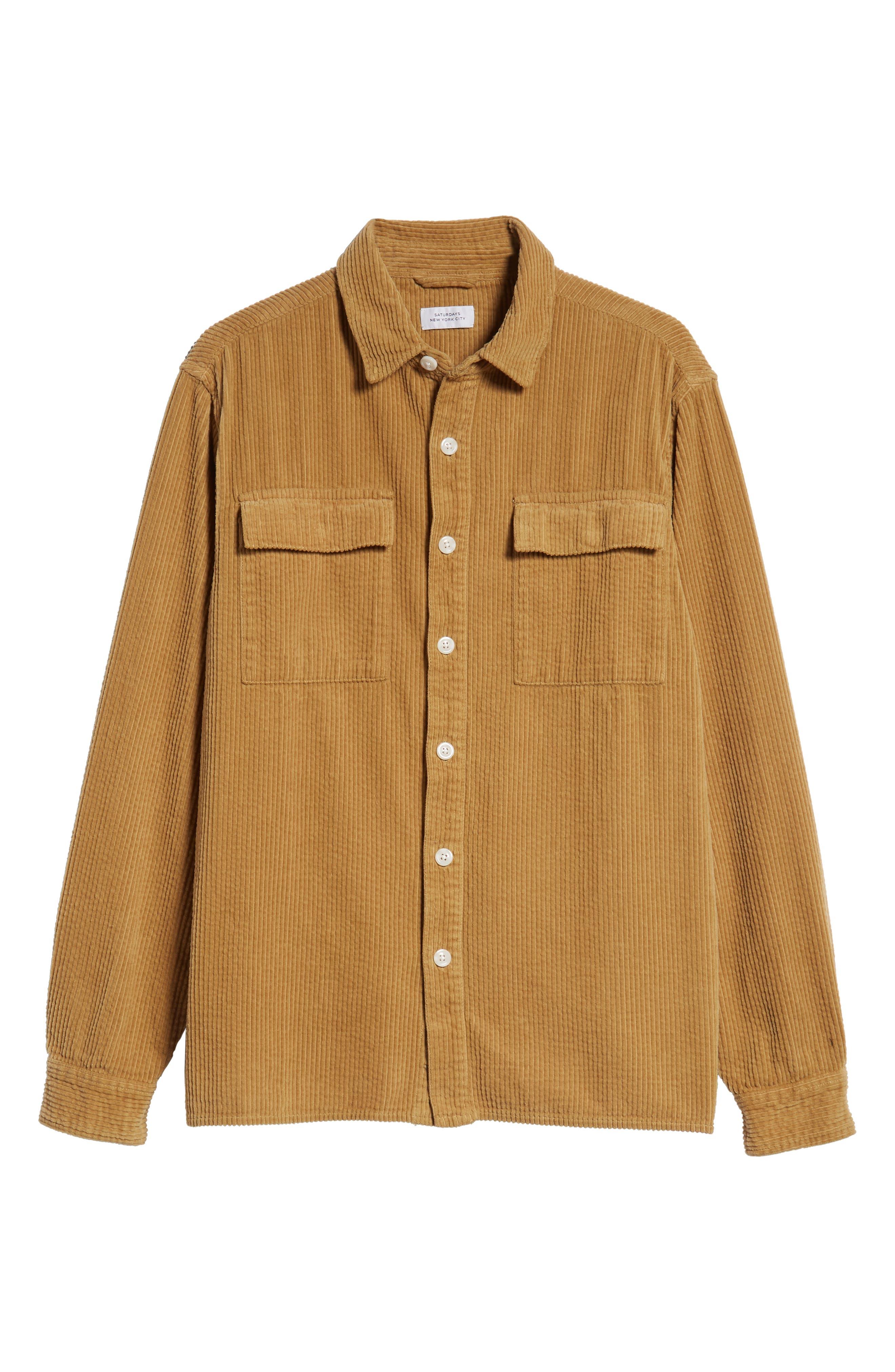 Magnus Heavy Corduroy Shirt,                             Alternate thumbnail 5, color,                             British Khaki
