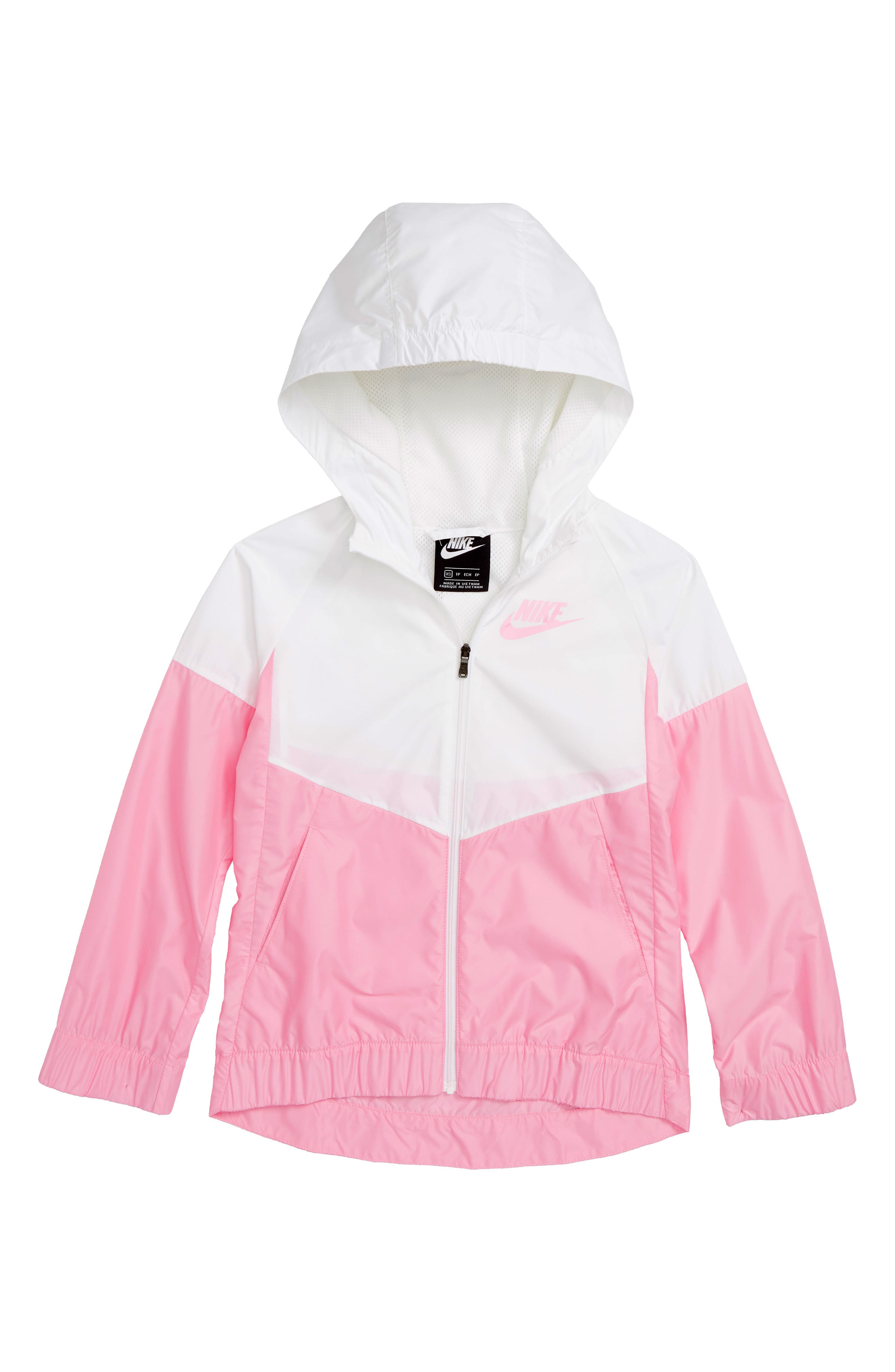 Sportswear Windrunner Jacket,                         Main,                         color, White/ Pink/ Pink