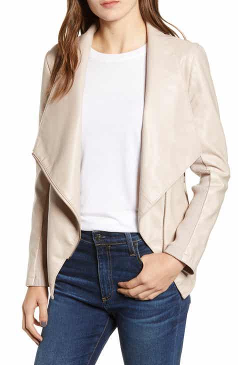BB Dakota Gabrielle Faux Leather Asymmetrical Jacket 3bde01ad2