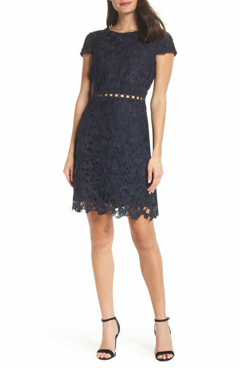 2061c728165a Sam Edelman Cap Sleeve Lace Sheath Dress